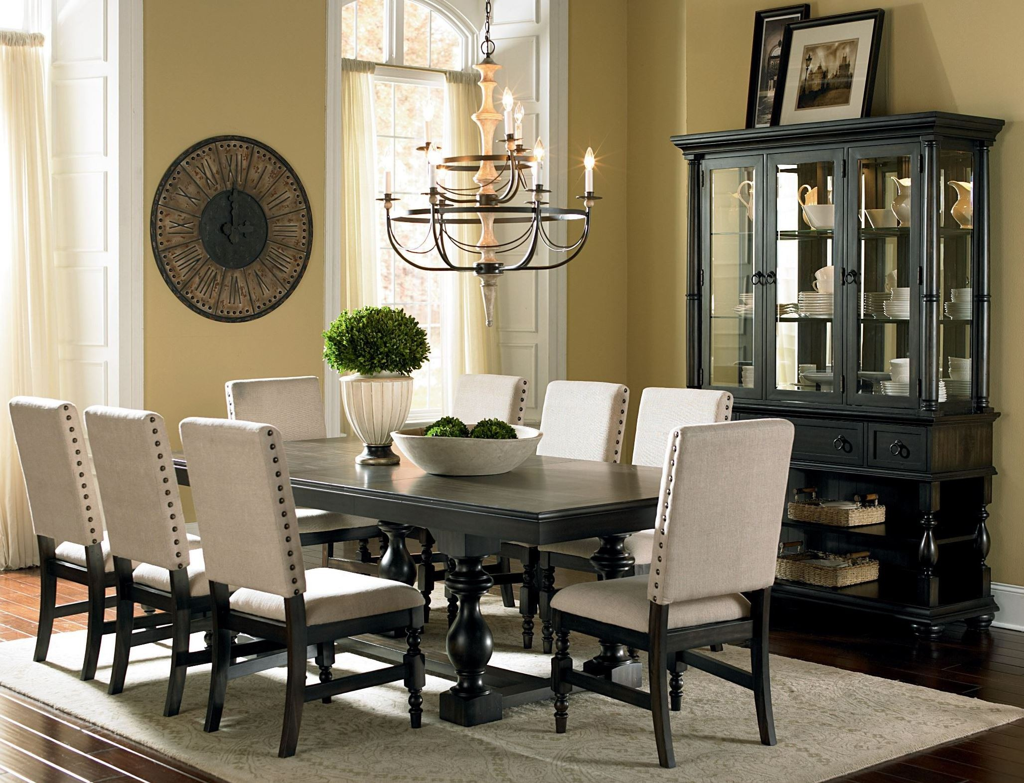 Leona Deep Charcoal Extendable Rectangular Dining Room Set