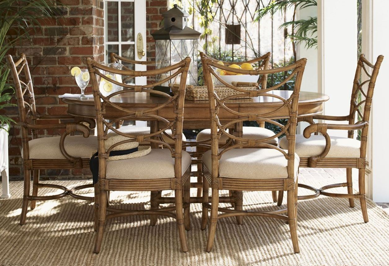 beach house coconut grove extendable round dining room set from tommy bahama 01 0540 870c. Black Bedroom Furniture Sets. Home Design Ideas
