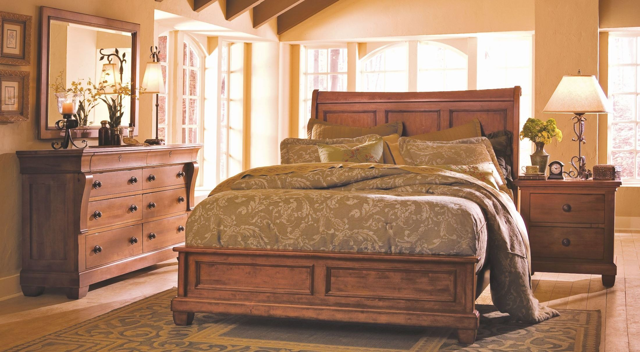 Tuscano Low Profile Bedroom Set From Kincaid 96 150p Coleman Furniture