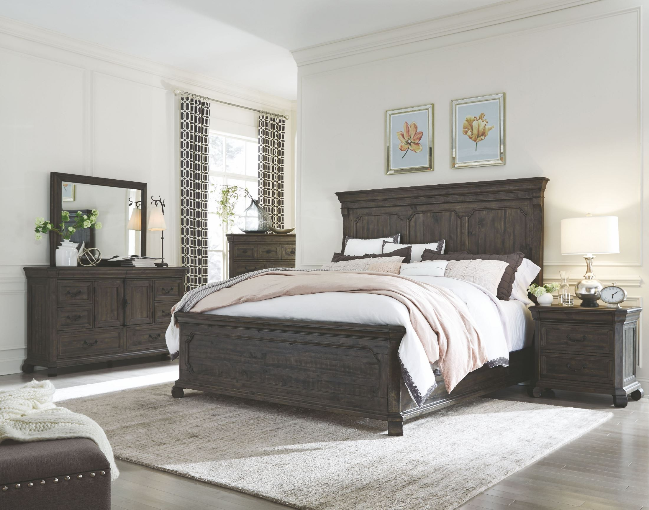 magnussen bedroom set bellamy peppercorn panel storage bedroom set from 12202