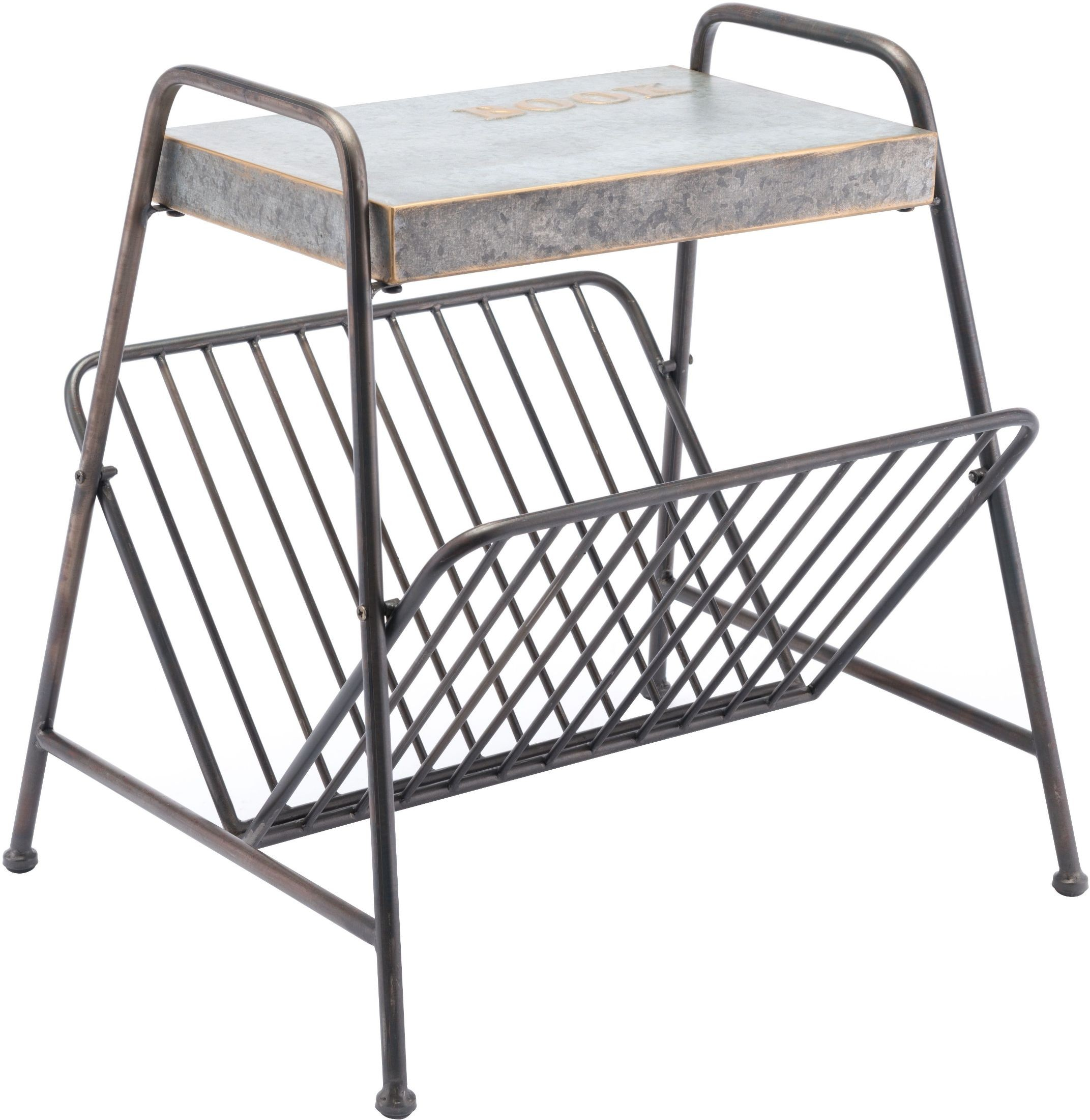 Fleur de Lis Metal Wall Magazine Rack. $ $ FREE SHIPPING Regency Glass Top Metal Magazine Table. $ $ Laredo Western Magazine Basket Set. $ $ Arezzio Wall Magazine Rack. Starting at $ Starting at $ FREE SHIPPING Nexus Dark Gray Faux Suede Magazine Holder.