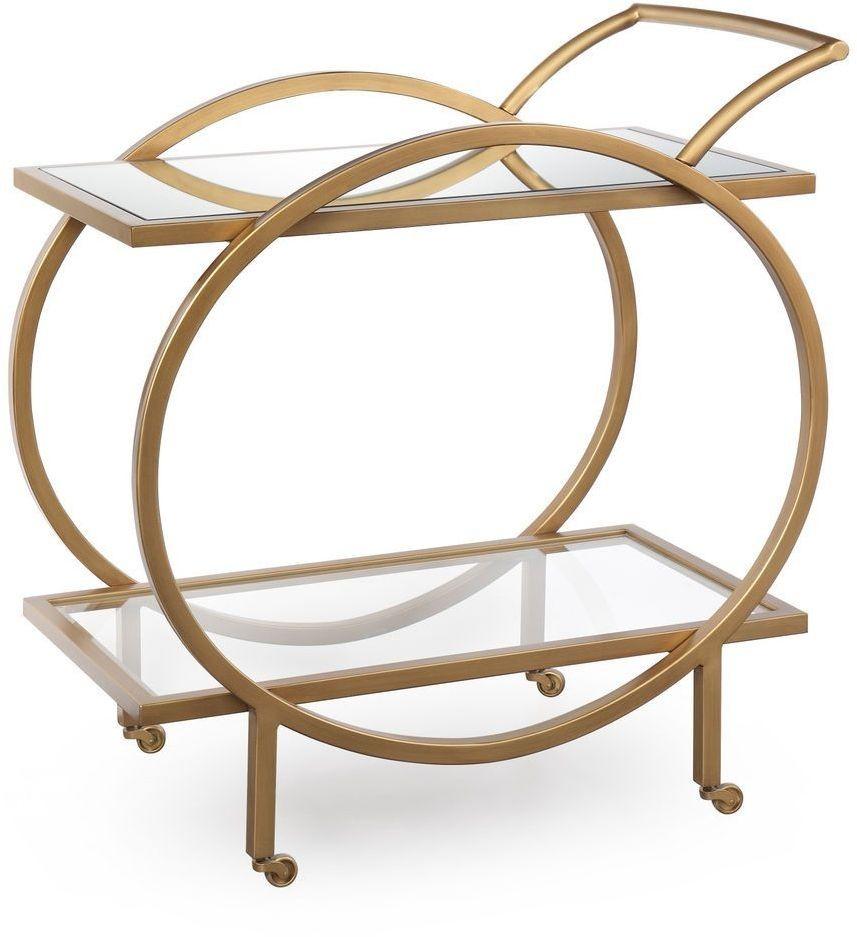 Marney Soft Gold Bar Cart From Bassett Mirror Coleman