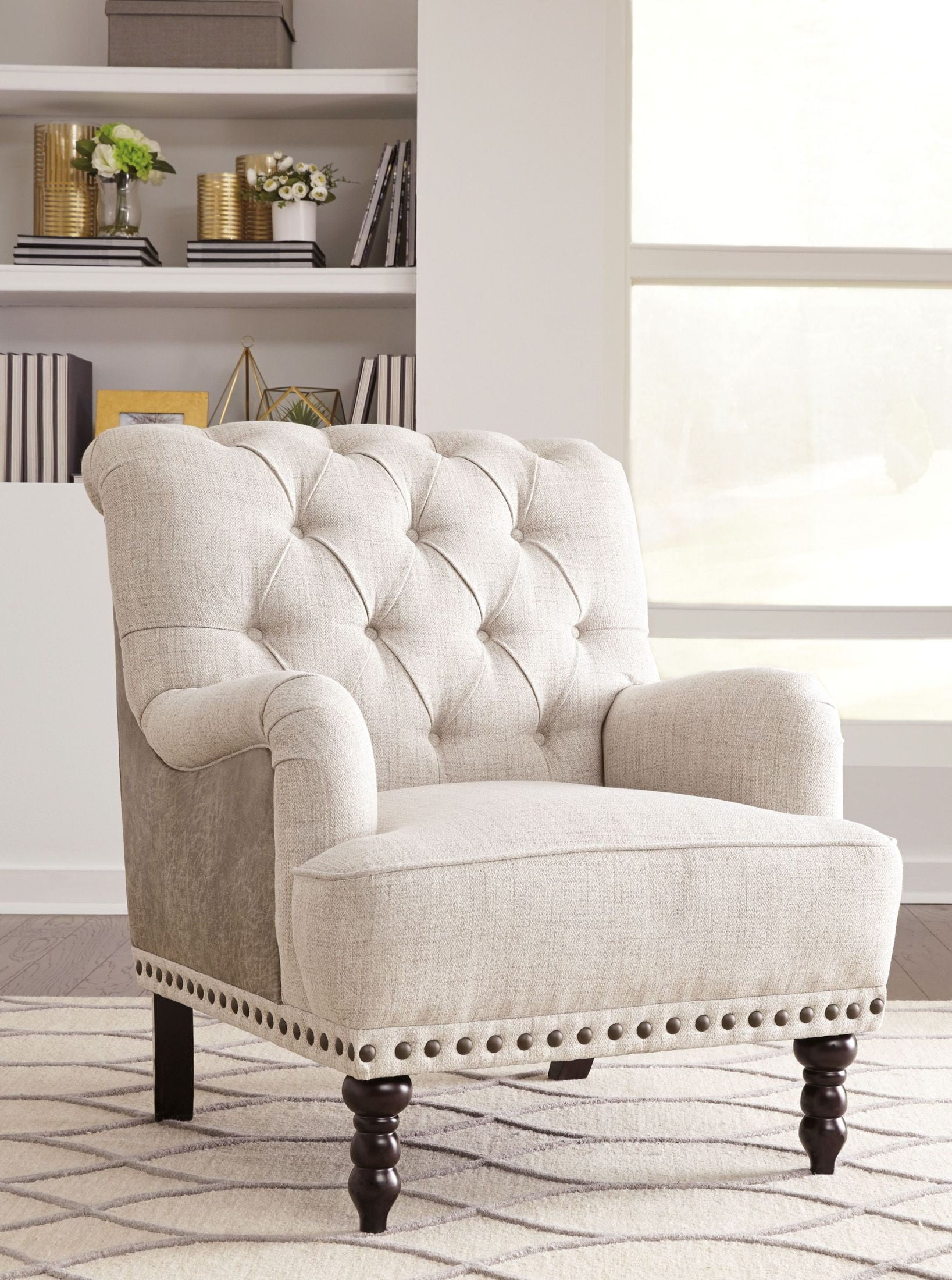 Modest Beige Accent Chair Gallery