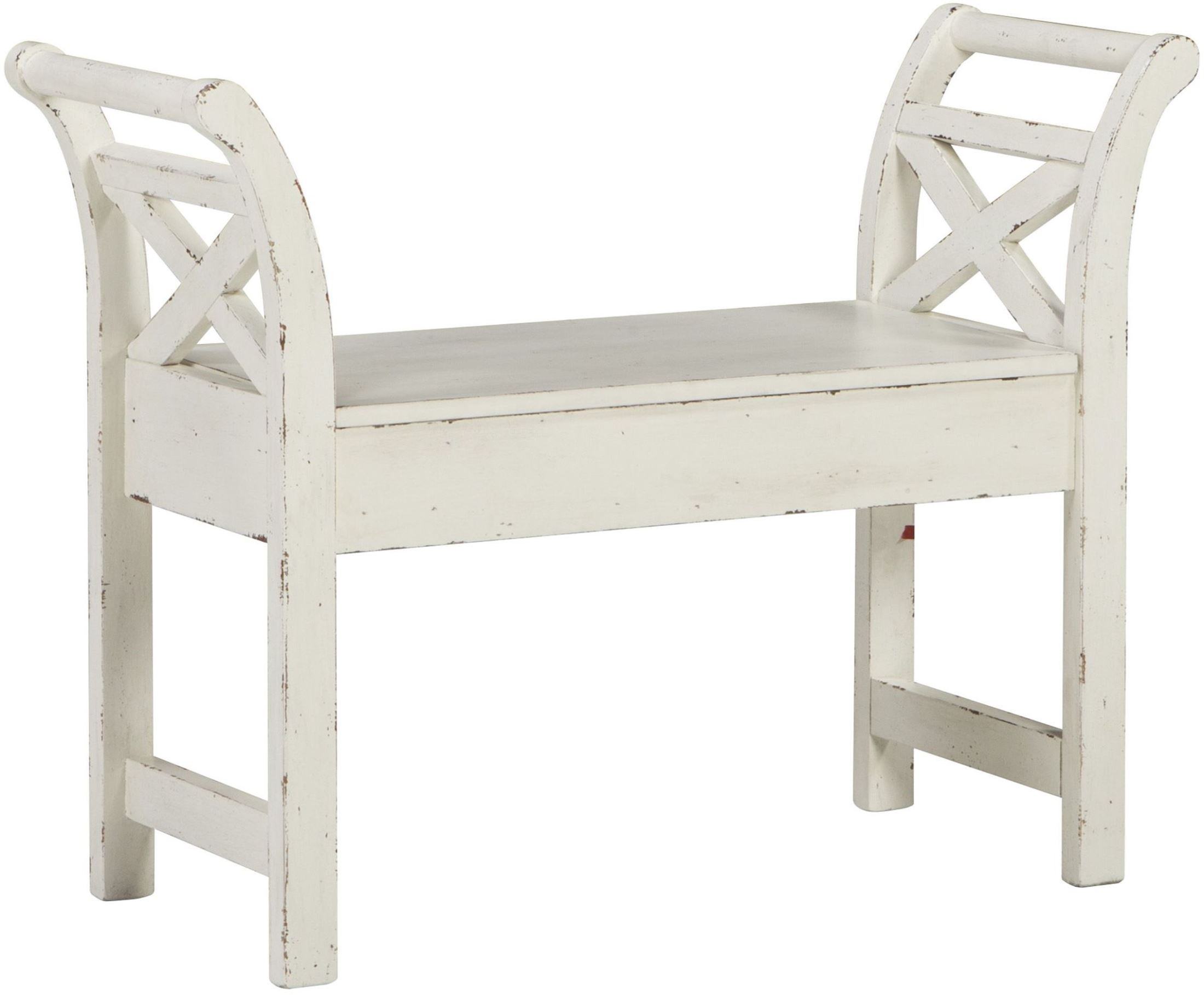 Heron Ridge White Accent Bench from Ashley