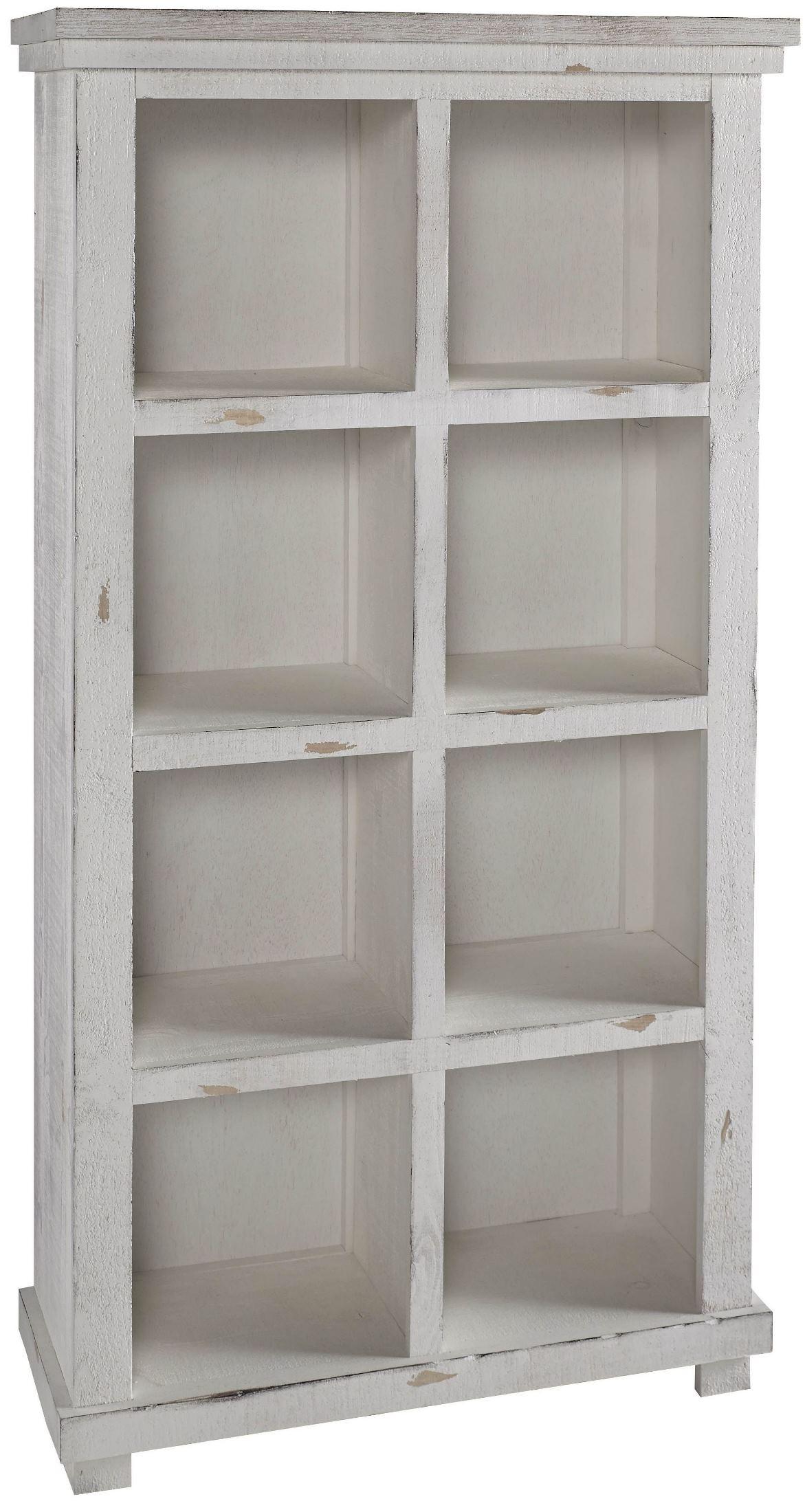 """Willow 64"""" White Bookcase From Progressive Furniture"""