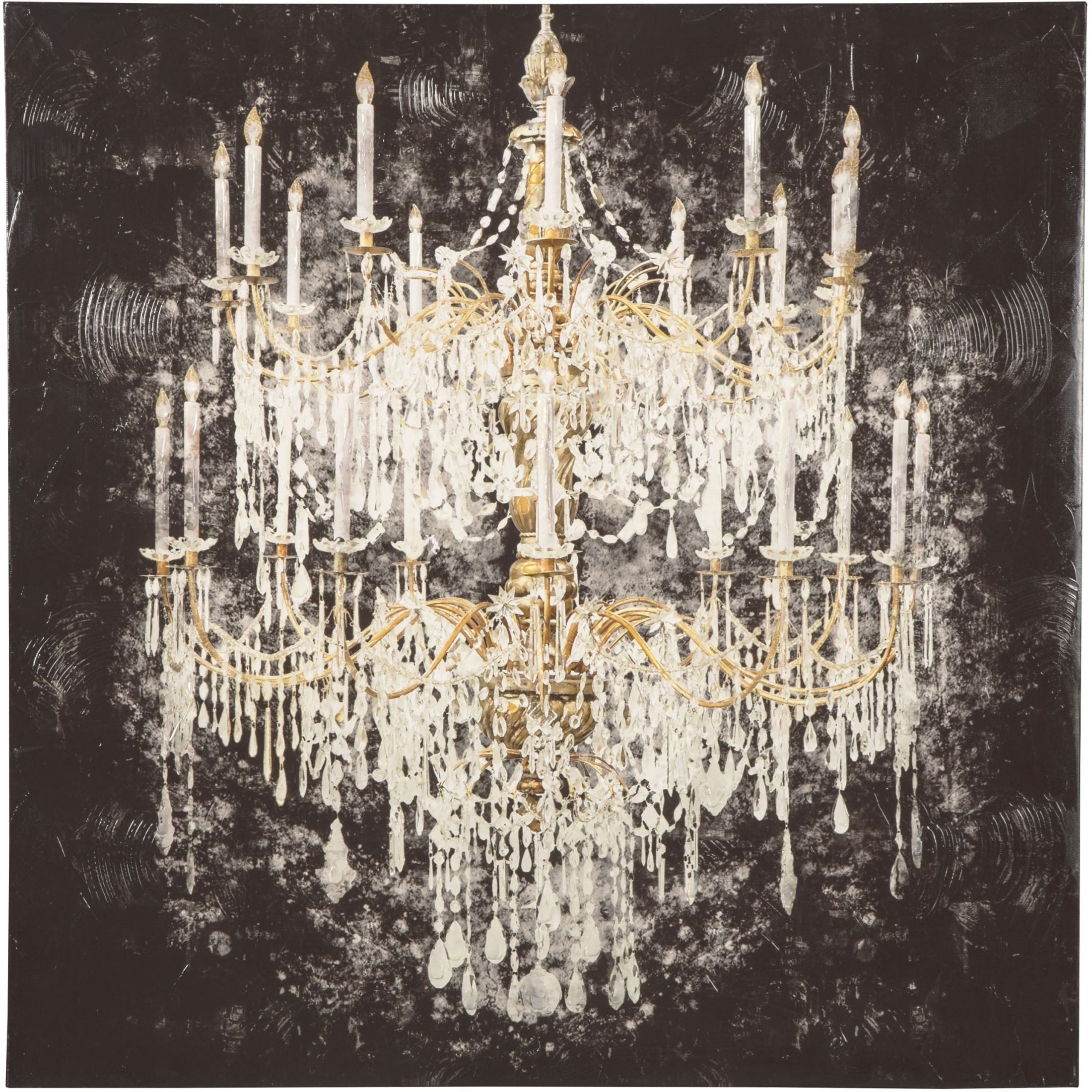 Donda White and Gold Wall Art from Ashley