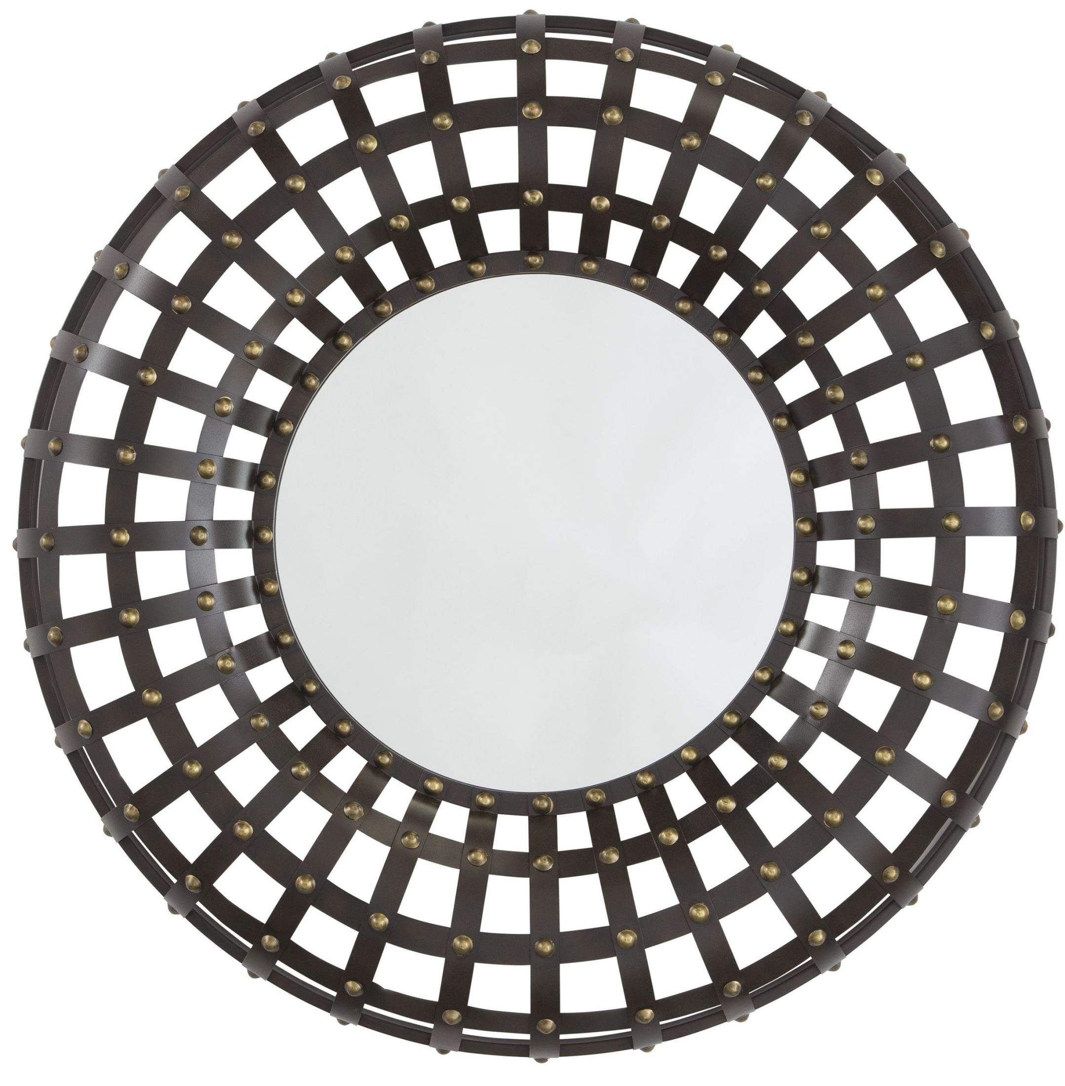 Ogier brown and gold accent mirror from ashley coleman for Accent mirrors