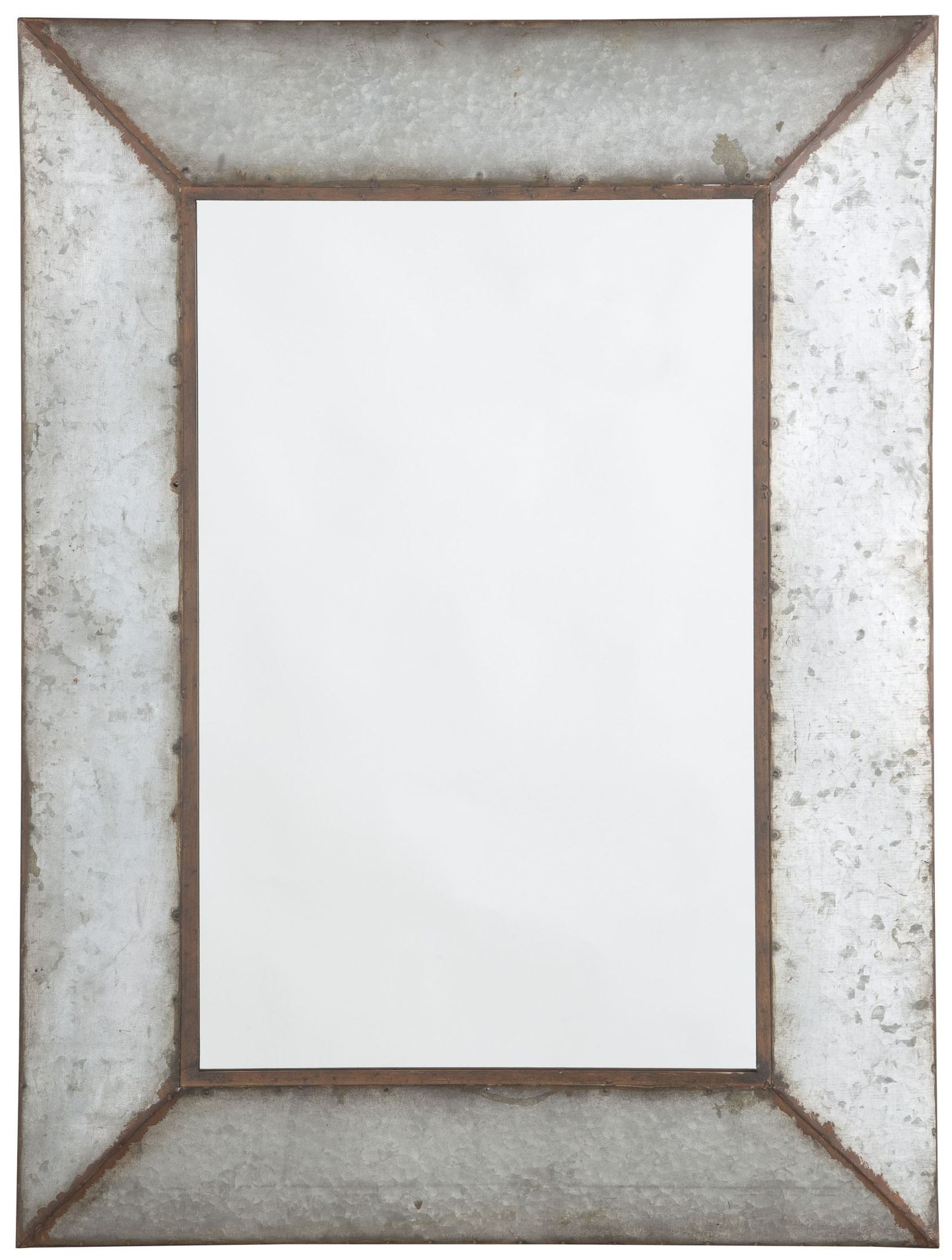 O 39 tallay antique gray accent mirror from ashley coleman for Accent mirrors