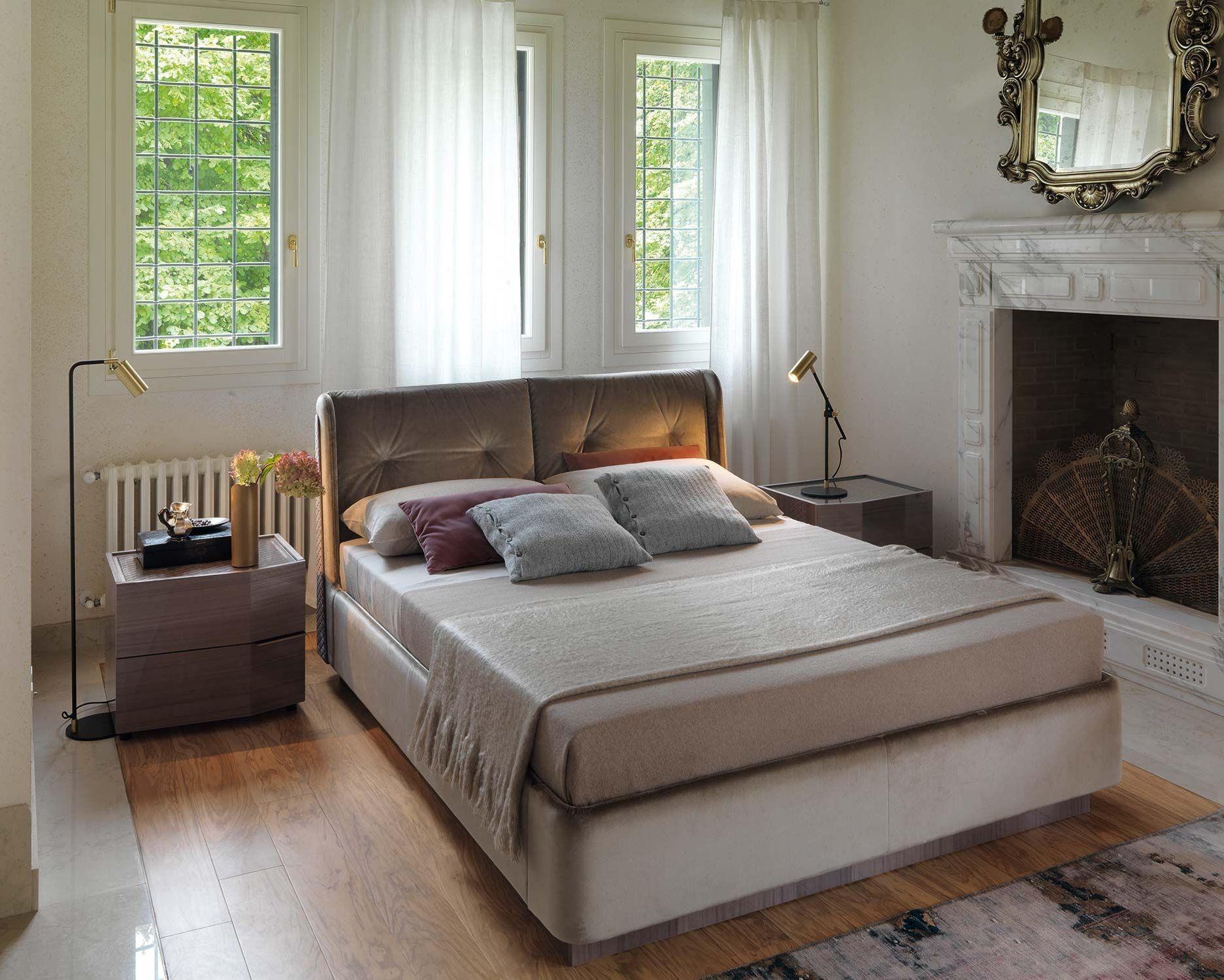 Chimera Tortora Zoe Upholstered Platform Bedroom Set