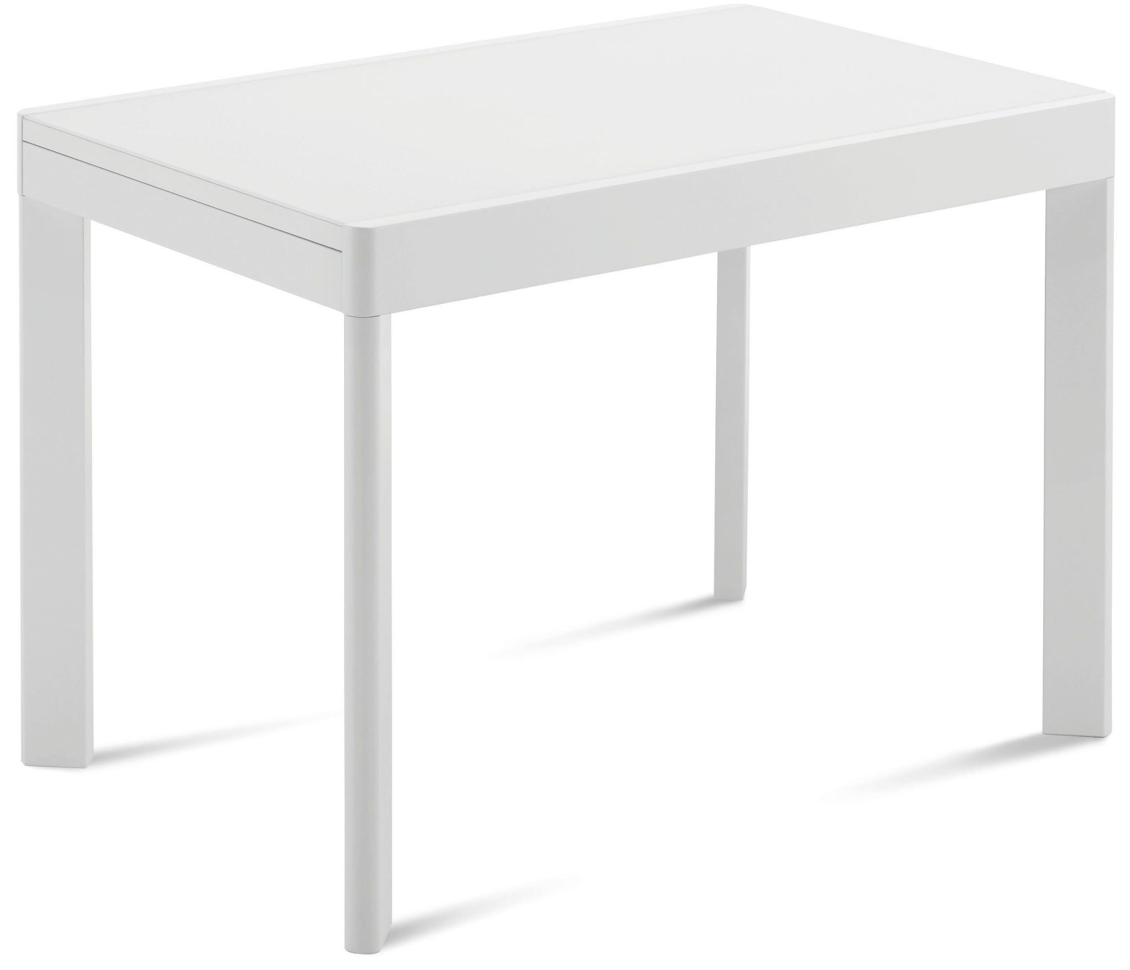 Rectangular Extendable Dining Table: Ace White Extendable Rectangular Dining Table From