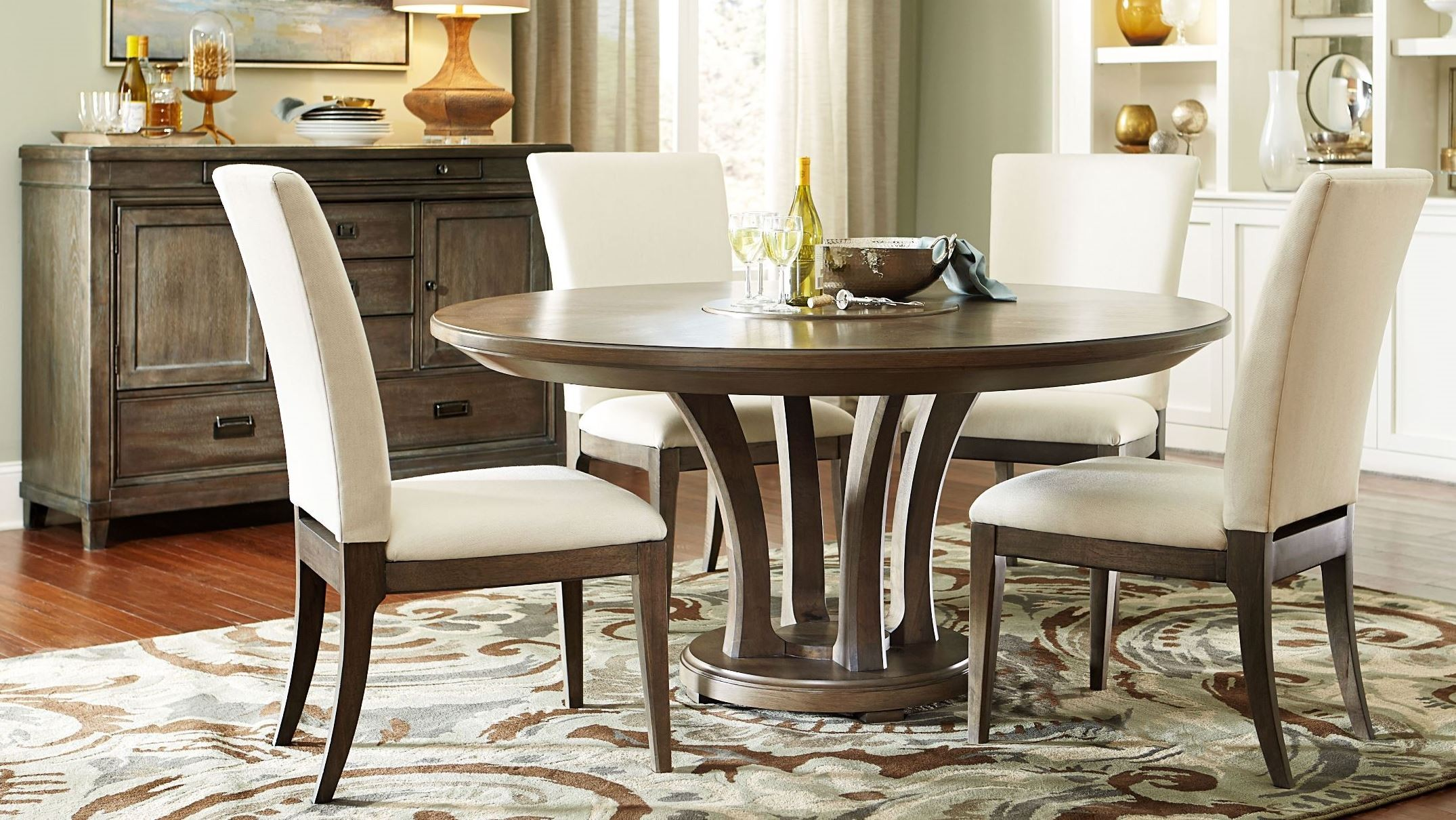 Park Studio Weathered Taupe 62 Quot Round Dining Room Set From