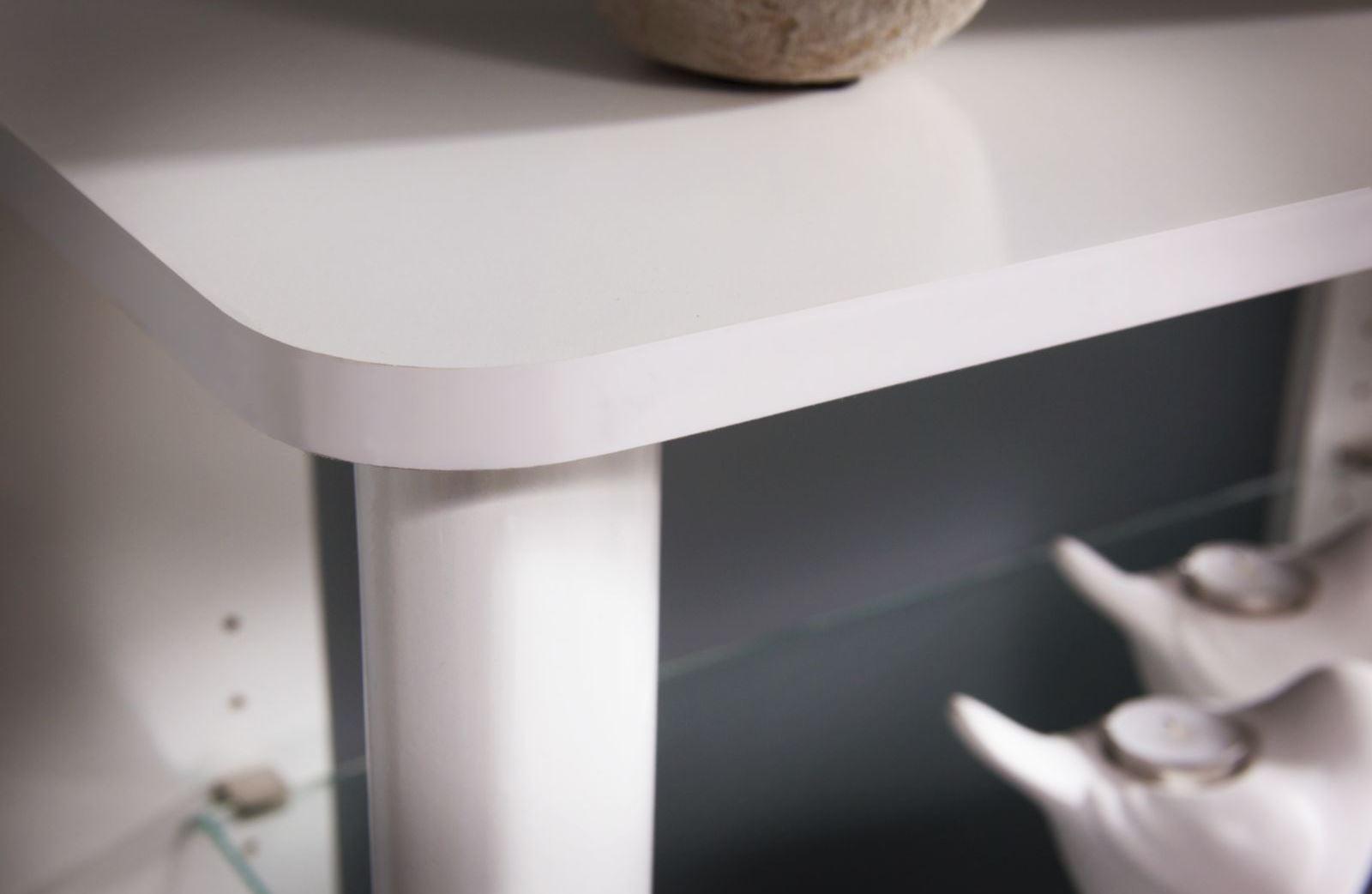 Aero Pure White Desk With 16 Cube Bookcase From Bush
