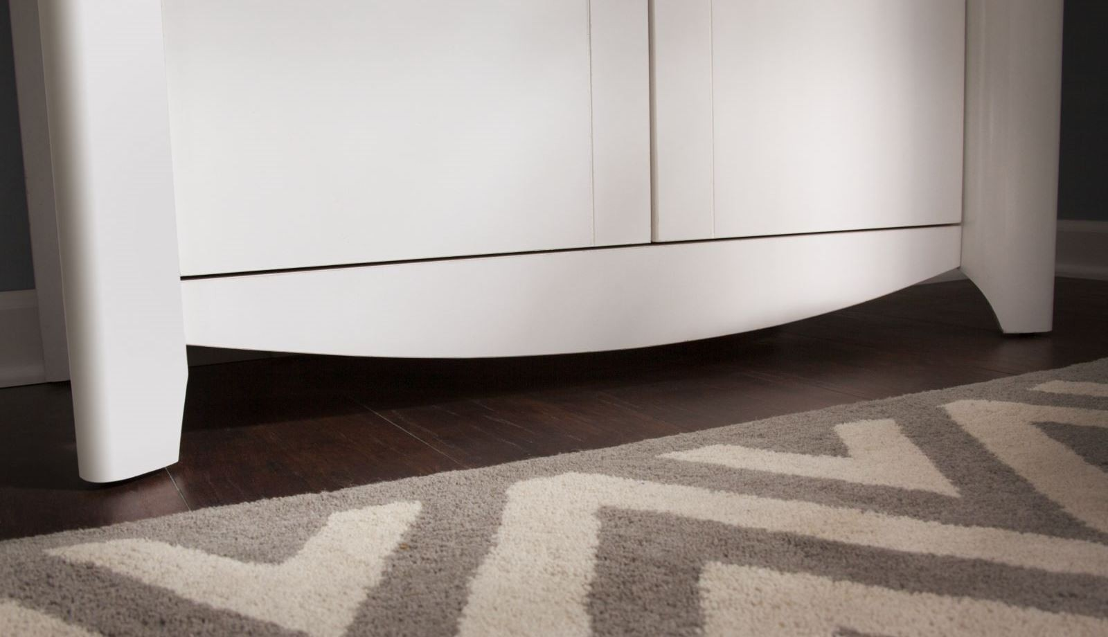Aero Pure White Desk With Medium Library Storage From Bush