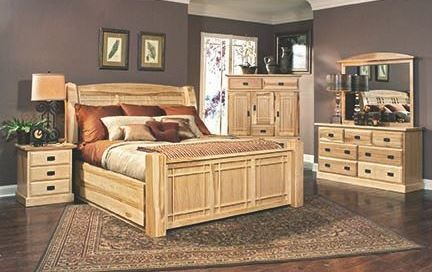 Amish Highlands Natural Storage Bedroom Set From A America Coleman Furniture