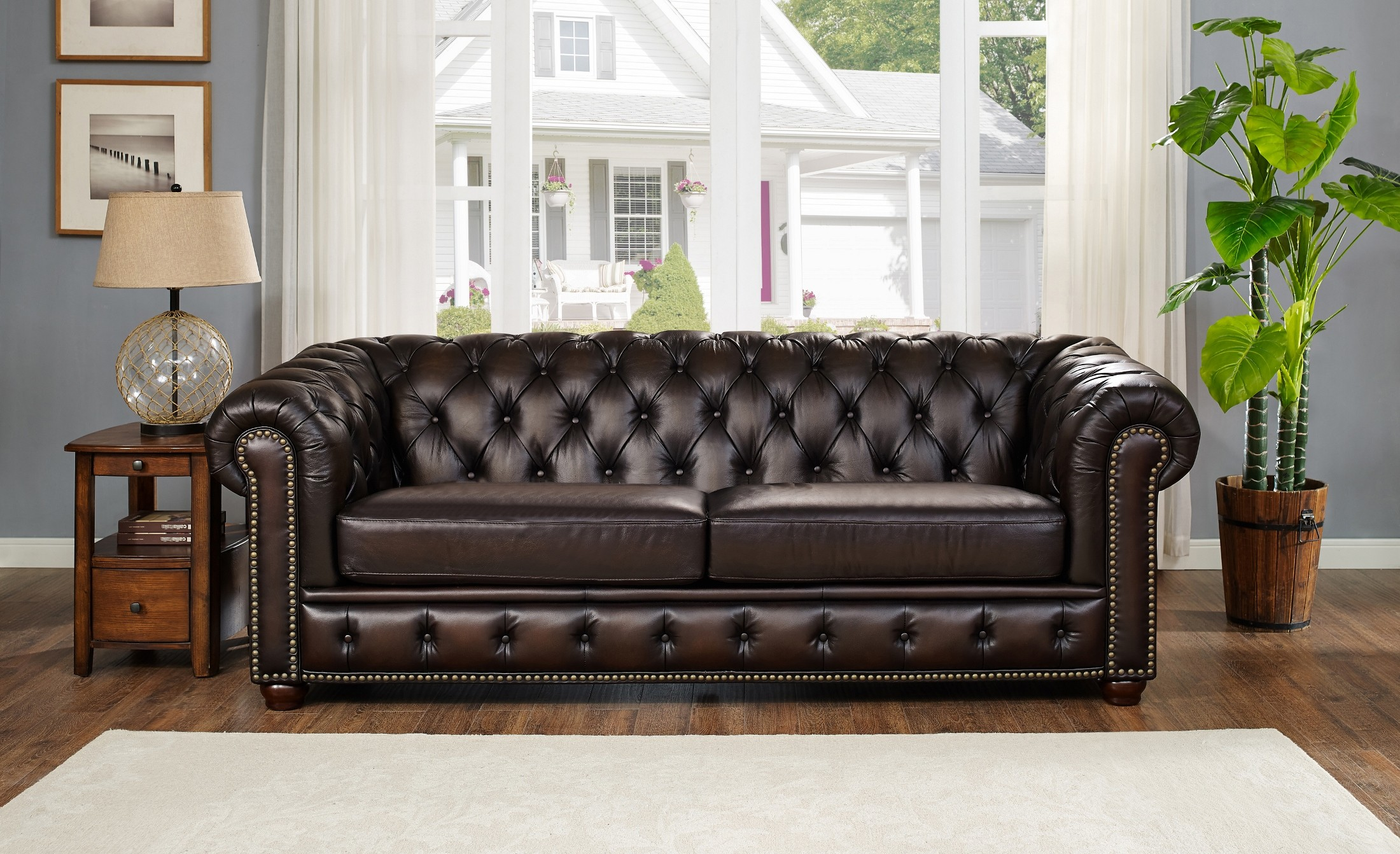 Albany Brown Leather Sofa From Amax Leather Coleman