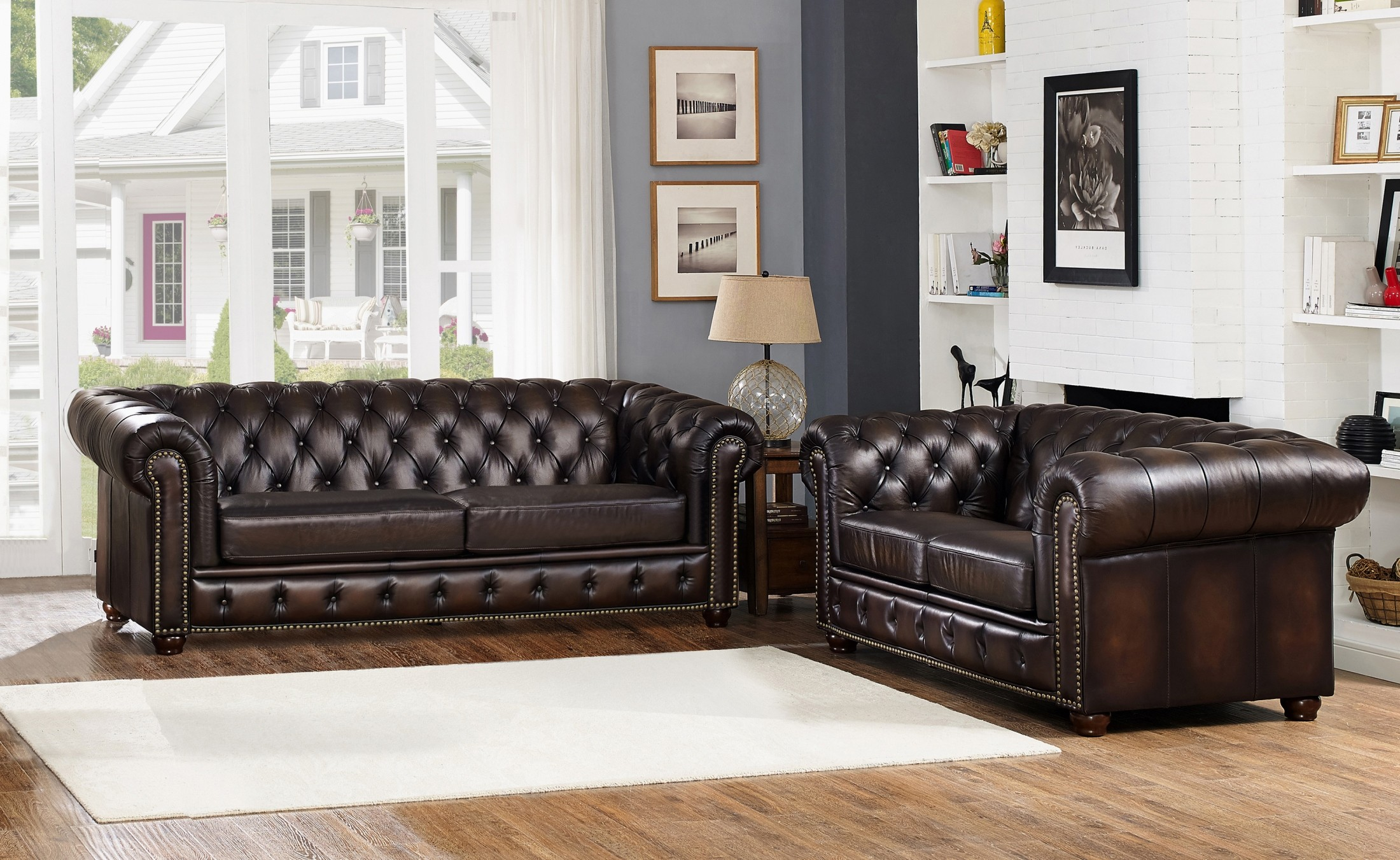 albany brown leather living room set from amax leather coleman furniture. Black Bedroom Furniture Sets. Home Design Ideas