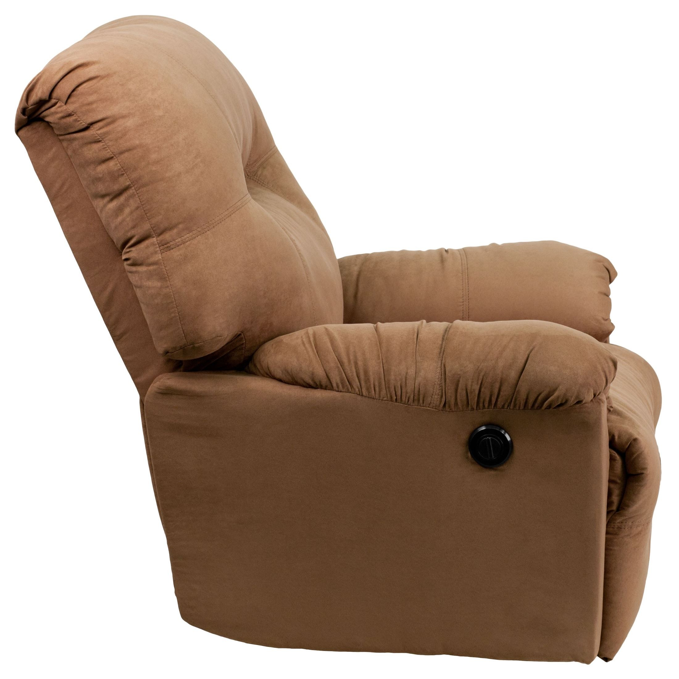 Calcutta camel microfiber power chaise recliner from for Catnapper cloud nine chaise recliner
