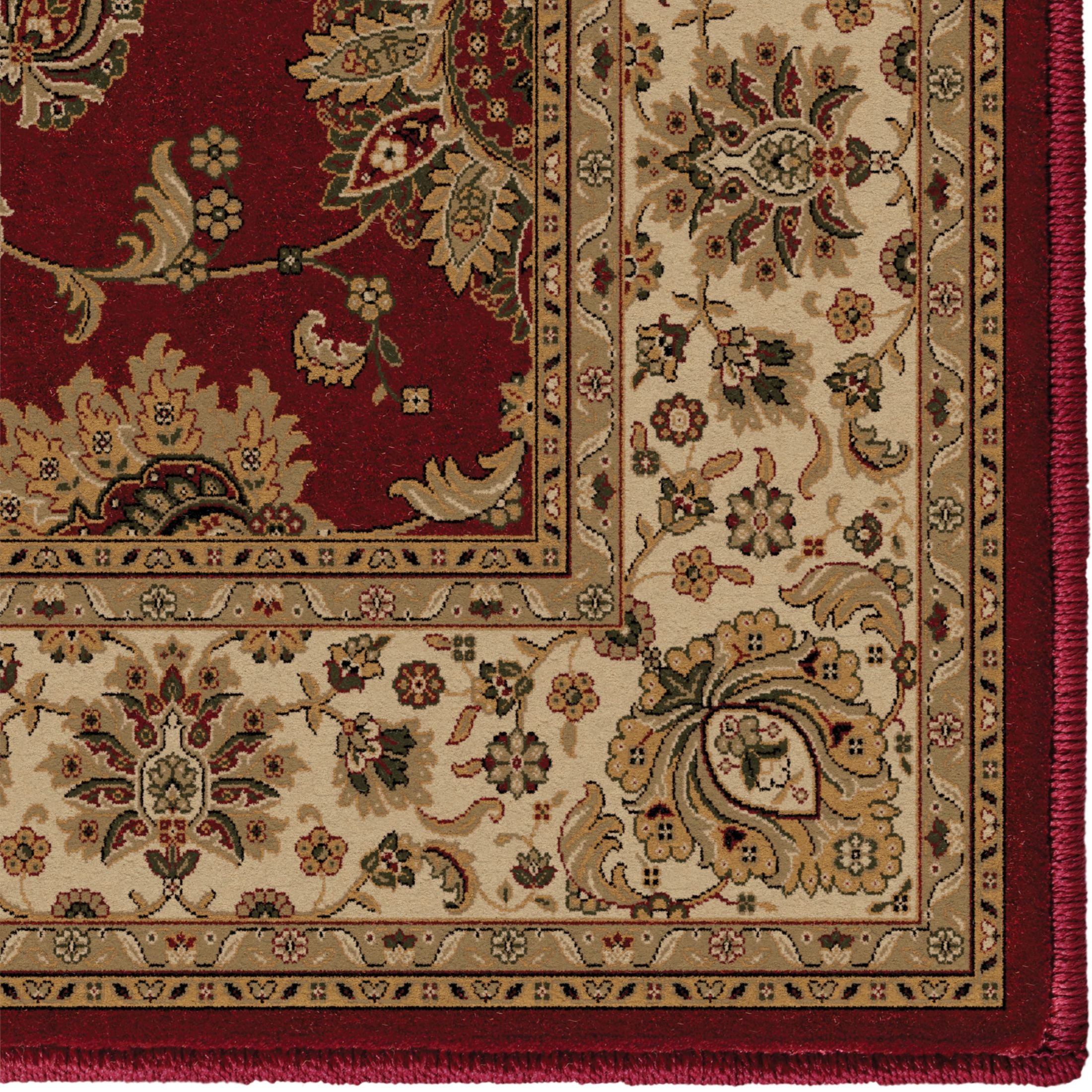 Orian Rugs Detailed Design Traditional Borokan Burgundy