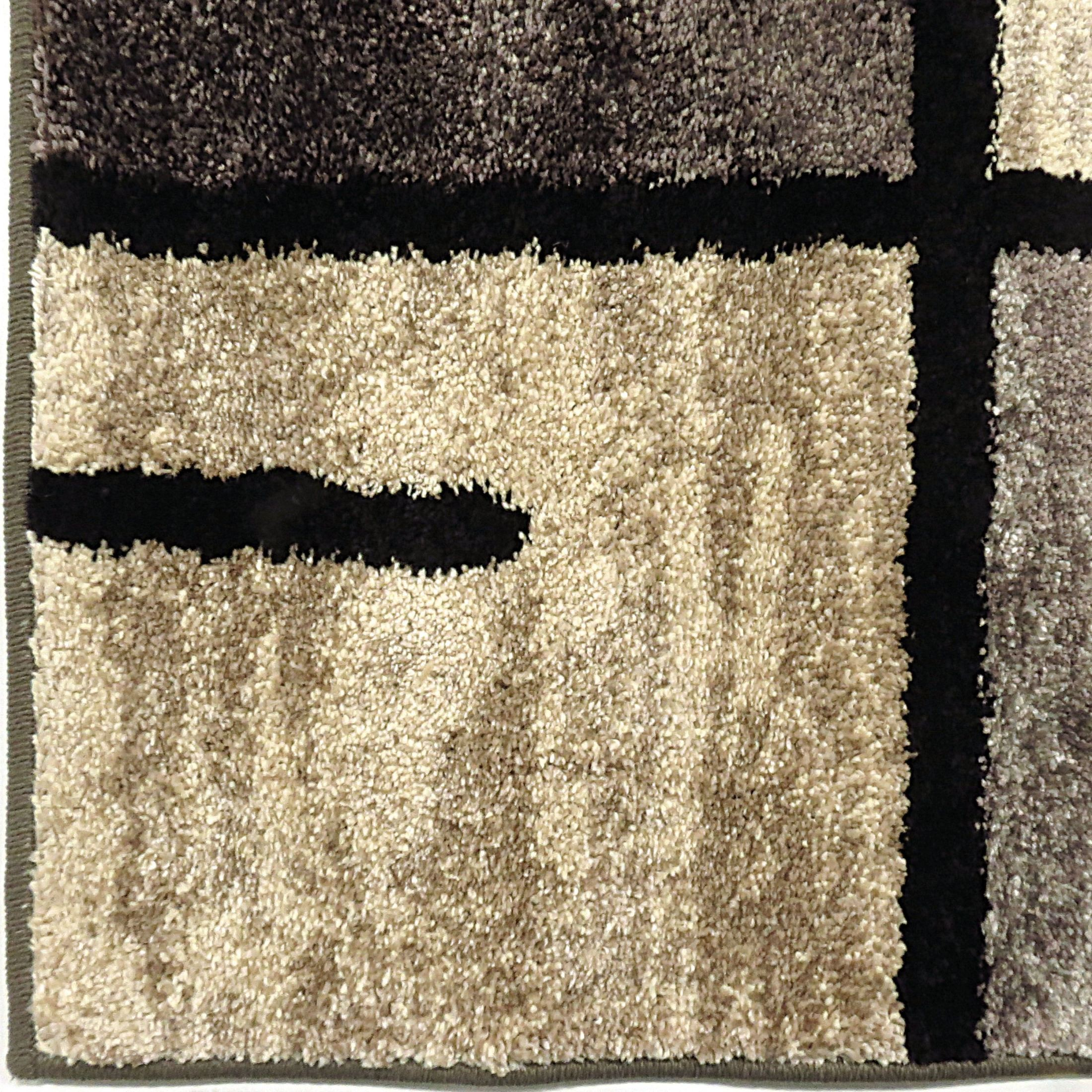 Orian Rugs Patterson Charcoal: American Heritage Plush Pile Blocks Armada Gray Large Area
