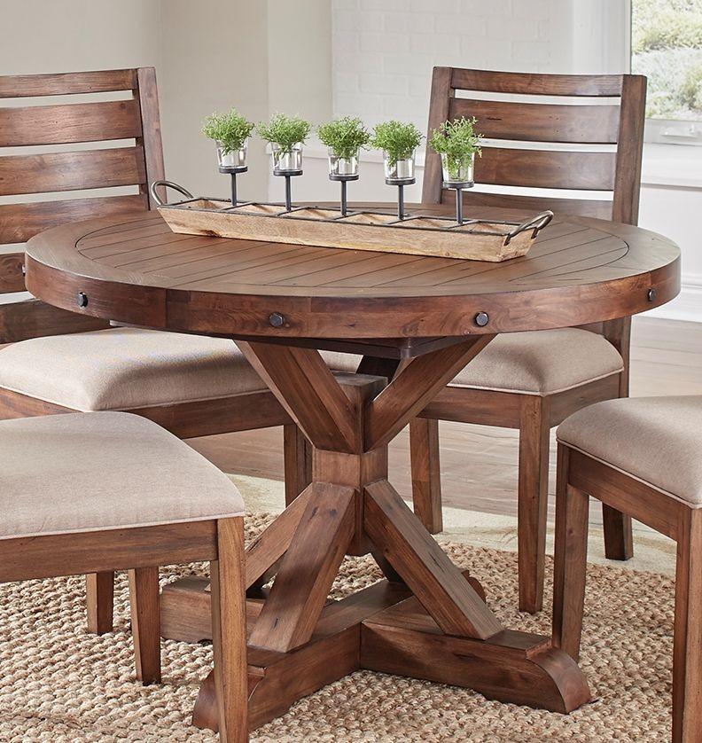 Anacortes mahogany 62 extendable oval pedestal dining for Oval pedestal dining table