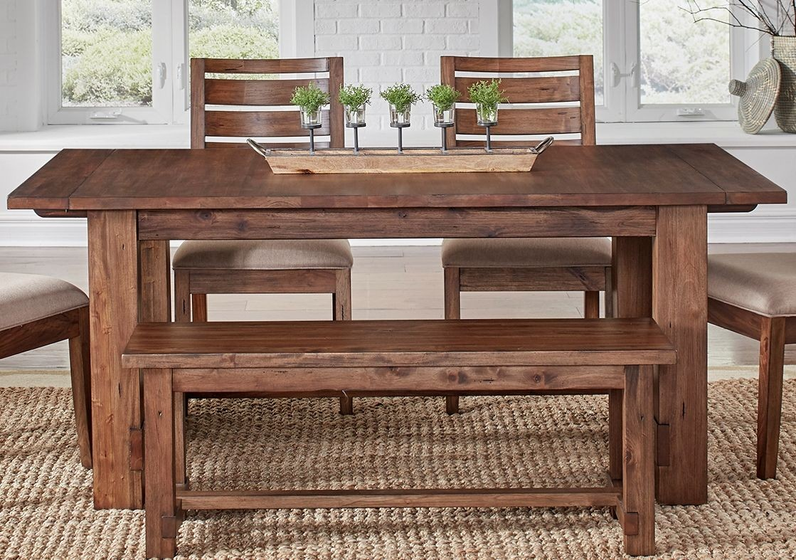 anacortes mahogany 105 extendable rectangular trestle dining table from a america coleman. Black Bedroom Furniture Sets. Home Design Ideas