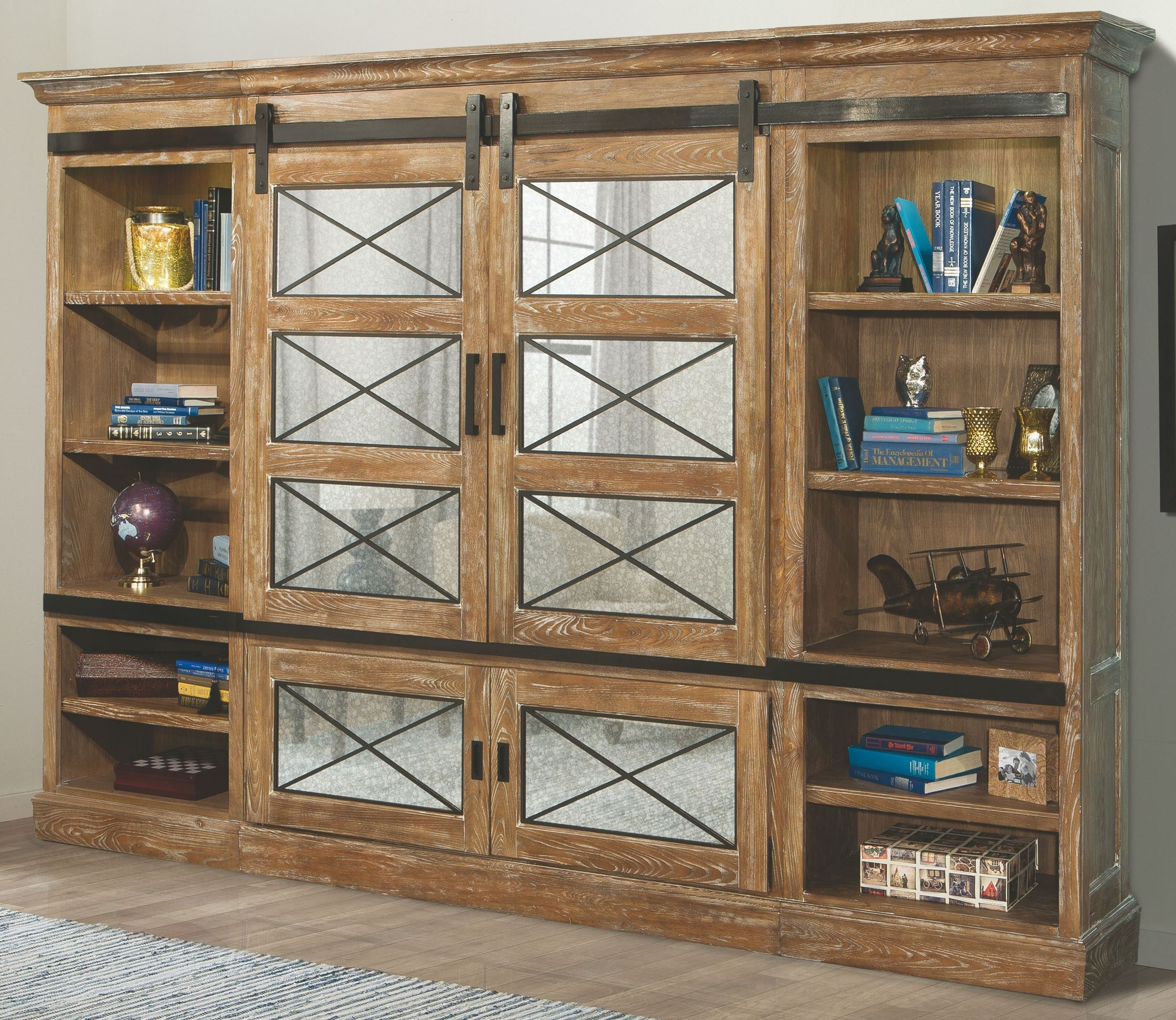 Annapolis Vintage Weathered Ash Sliding Door Entertainment Wall From Parker  House | Coleman Furniture