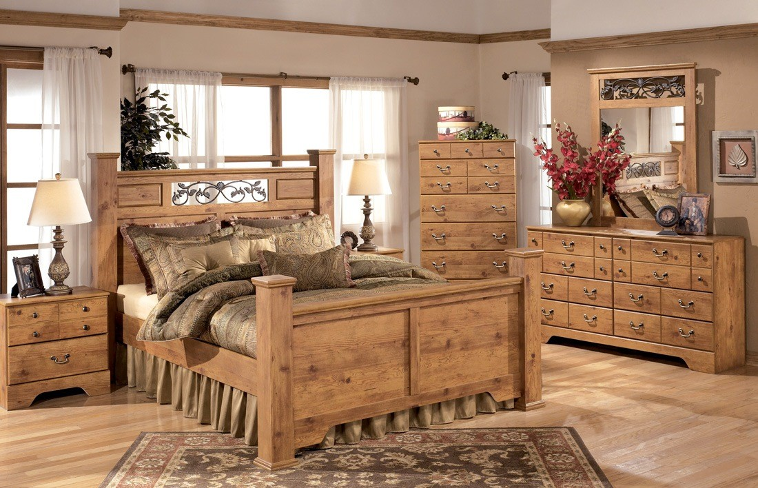 Bittersweet poster bedroom set from ashley b219 77 - King size bedroom sets for sale by owner ...