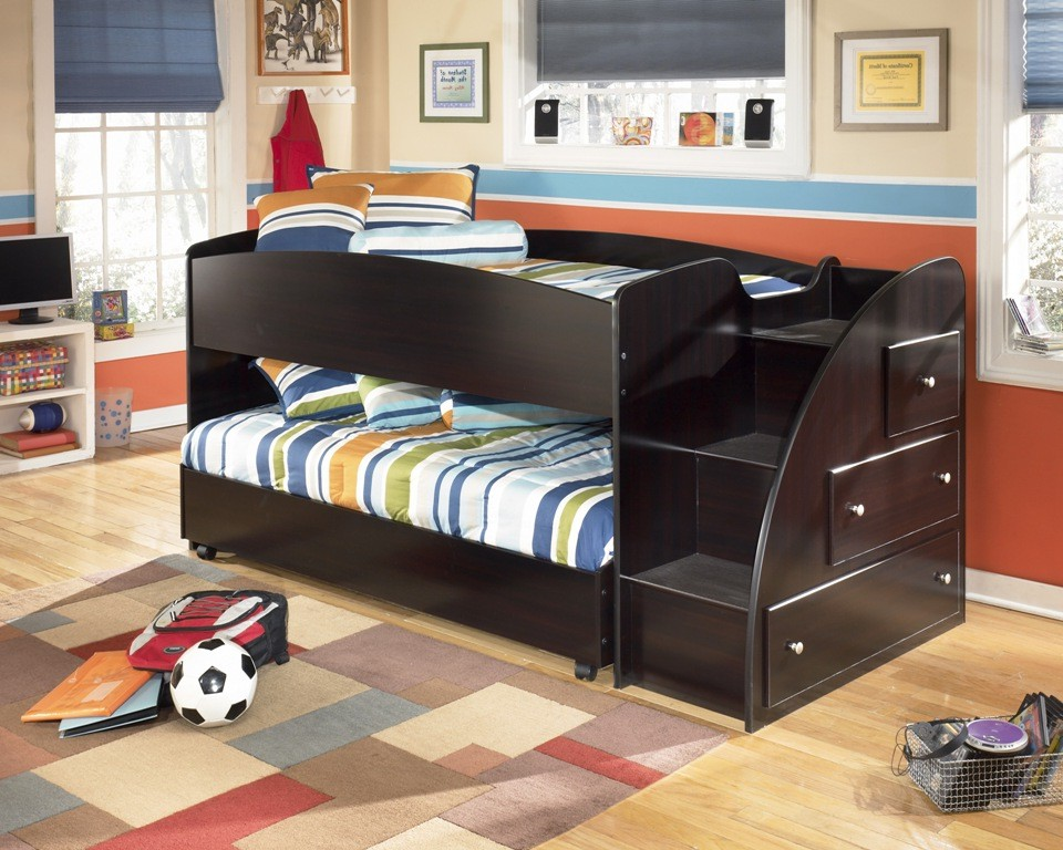 Embrace Youth Right Twin Over Twin Loft Bed From Ashley