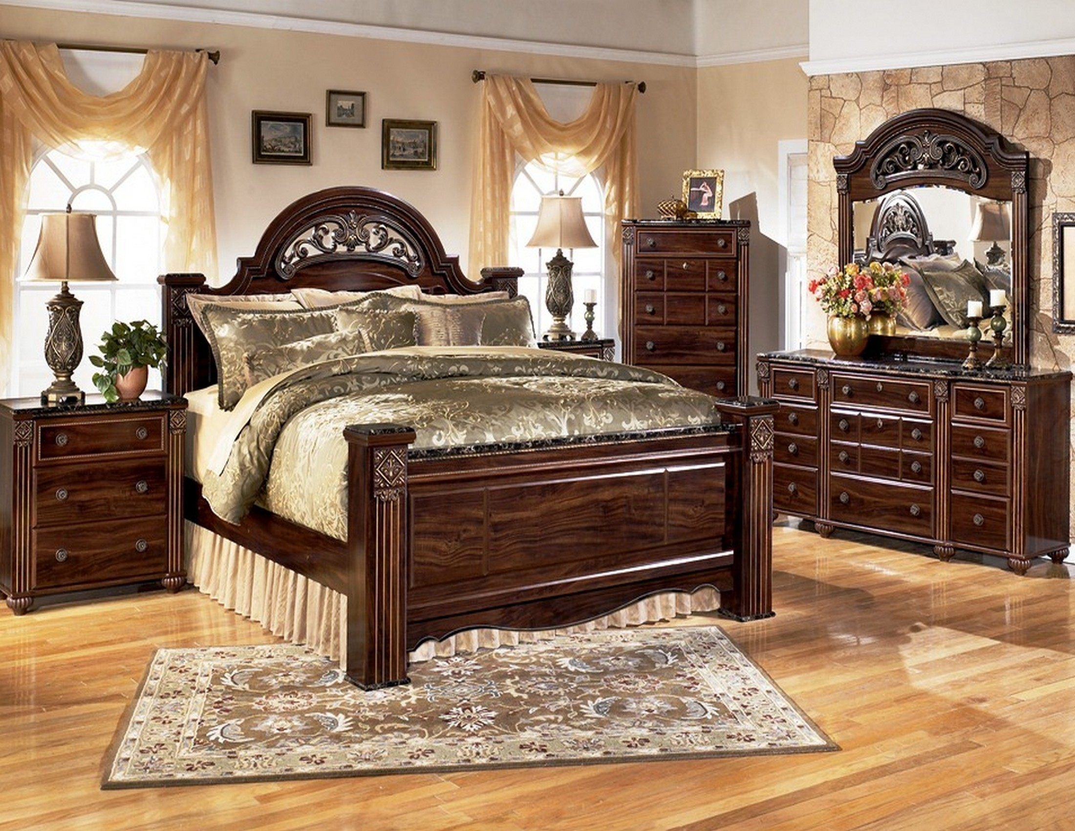 Gabriela poster bedroom set from ashley b347 coleman - Ashley furniture bedroom packages ...