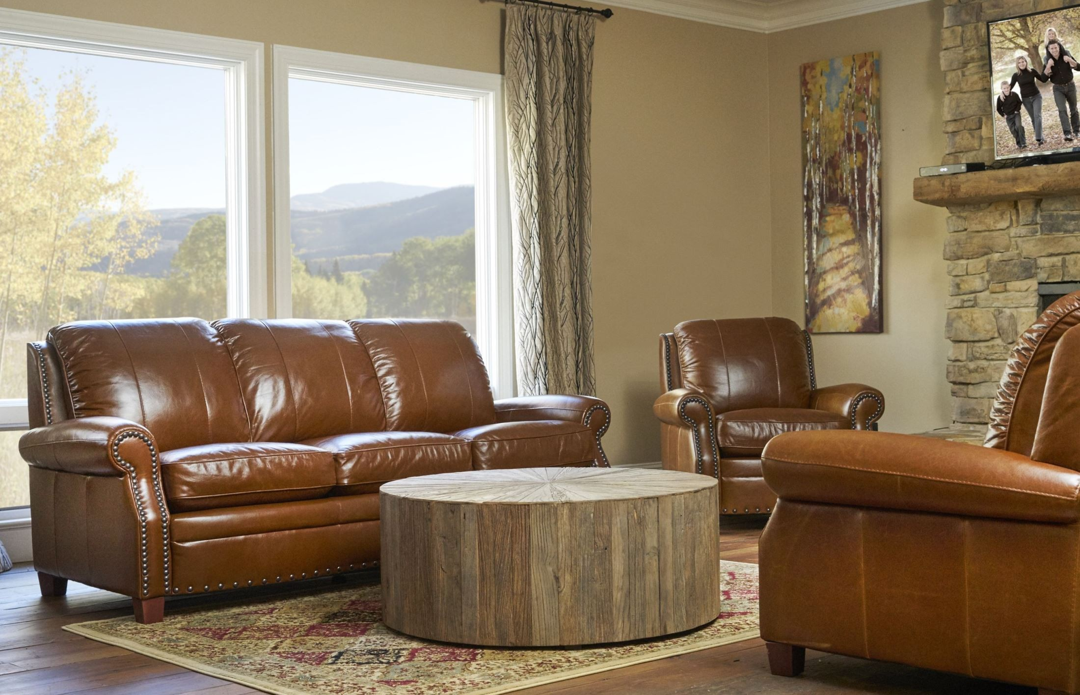 Ashton Safari Tan Living Room Set From Luke Leather Ashton Coleman Furniture