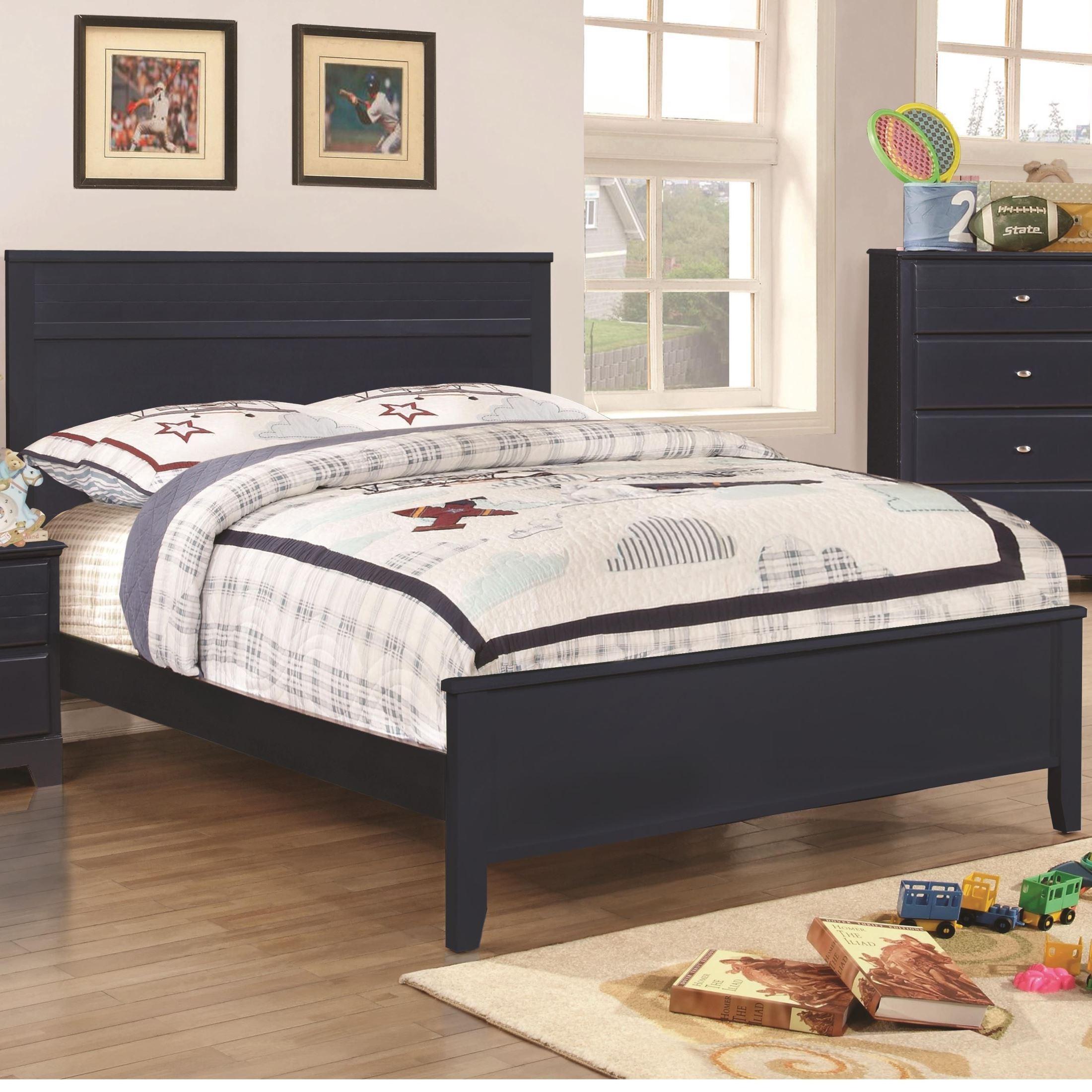 Ashton Navy Youth Panel Bedroom Set, 400781T, Coaster