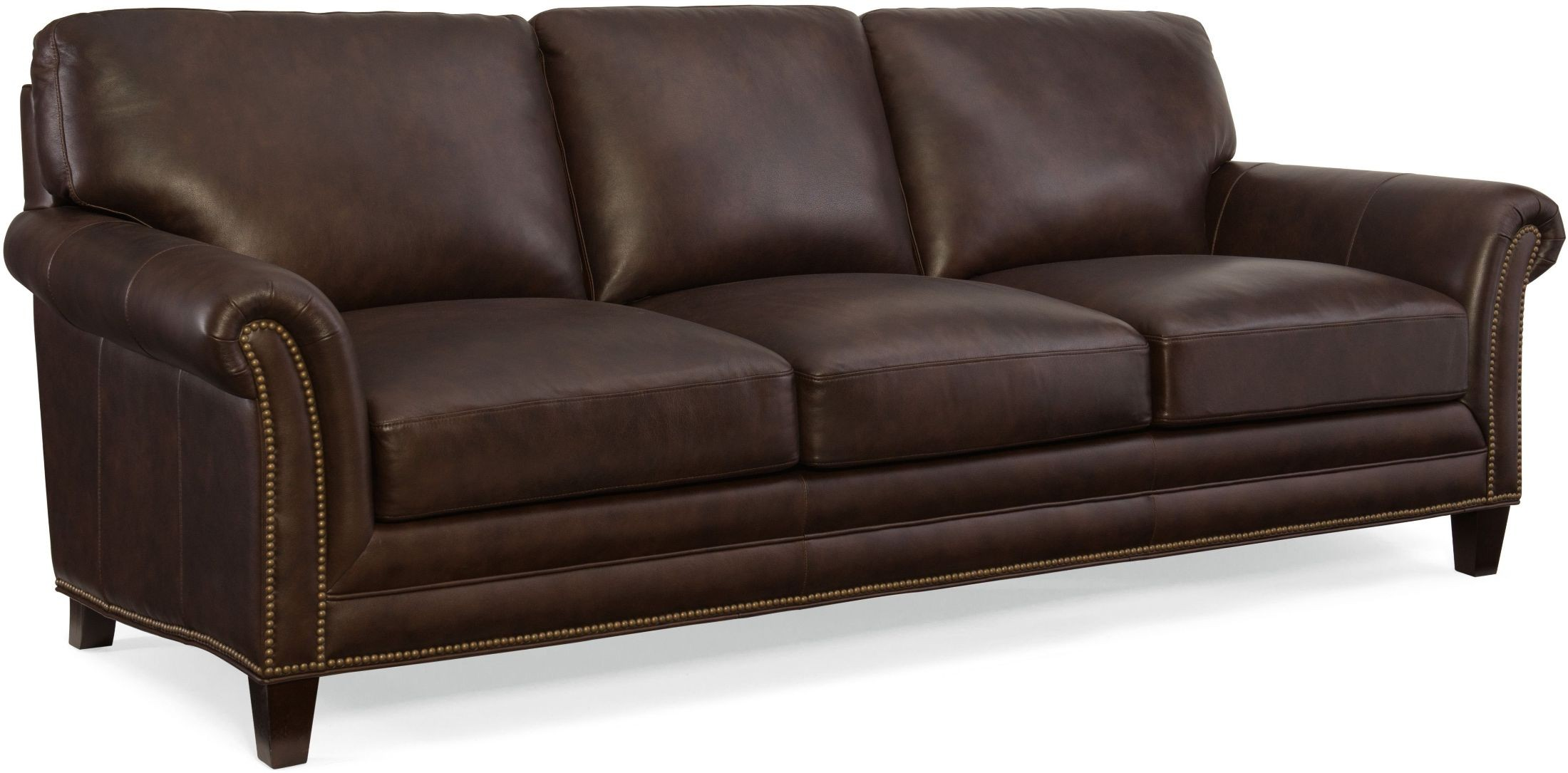 Marriott Brown Leather Sofa From Hooker | Coleman Furniture