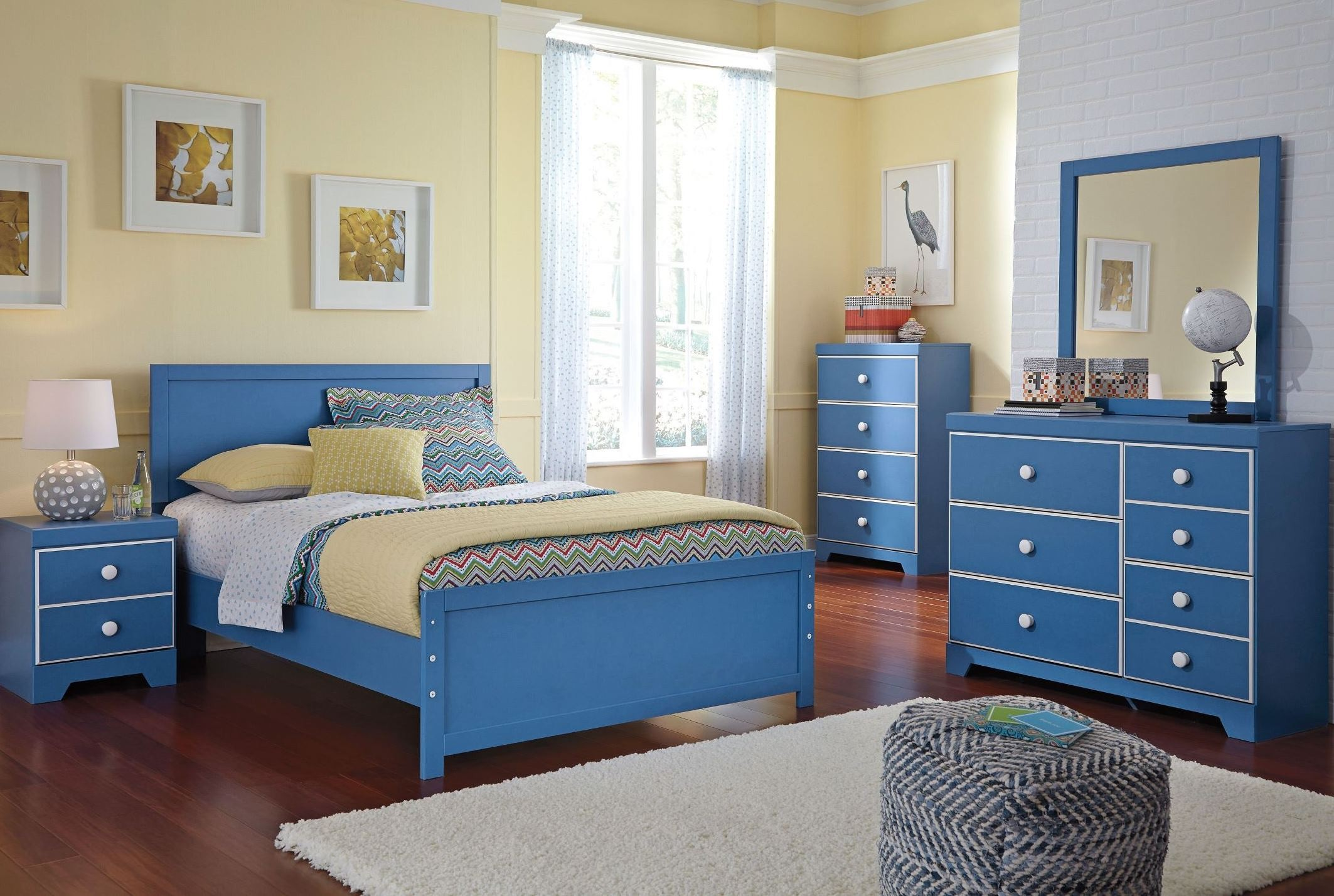 Bronilly Blue Youth Panel Bedroom Set From Ashley B045 52