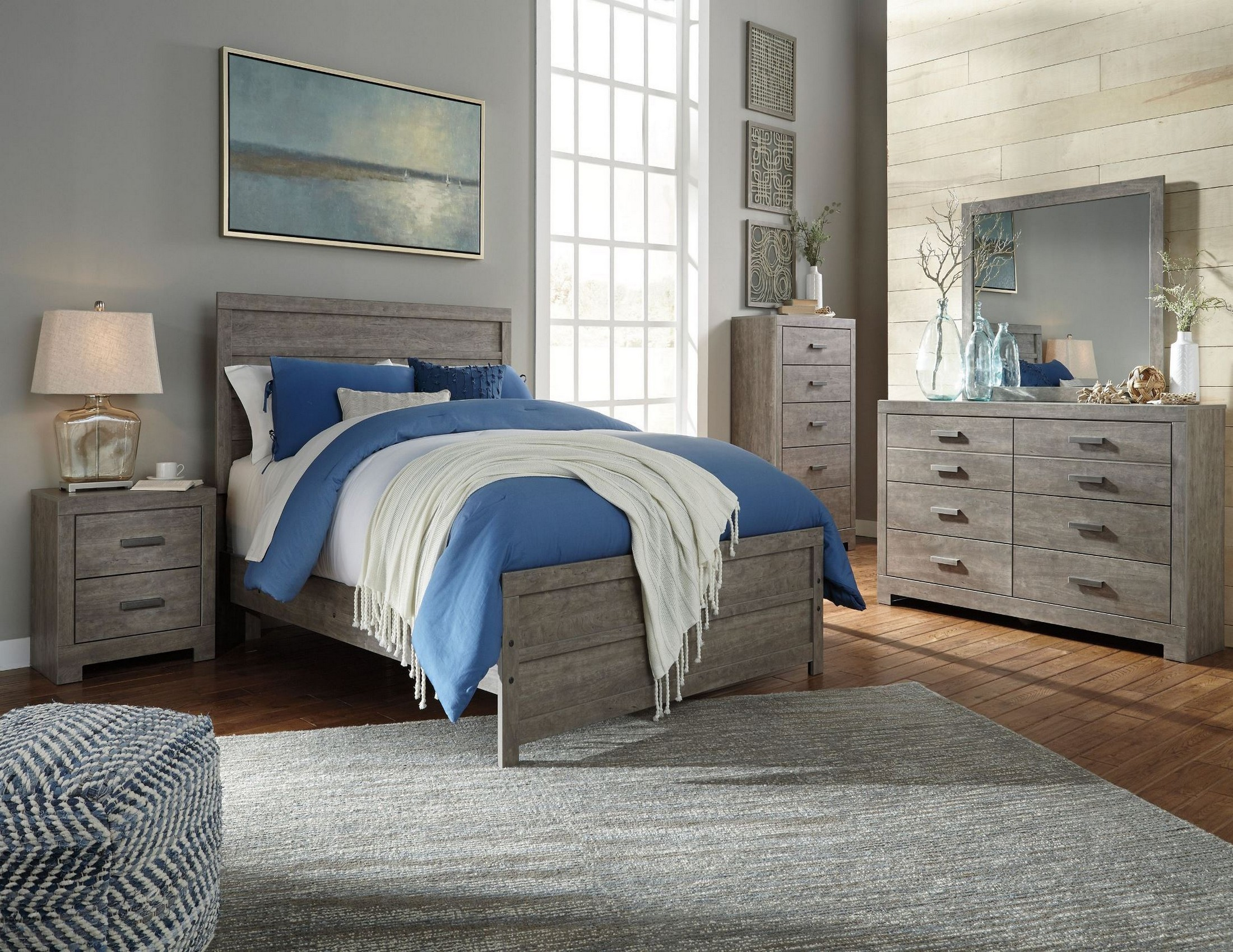 Culverbach panel bedroom set from ashley coleman furniture for Bedroom set with bed