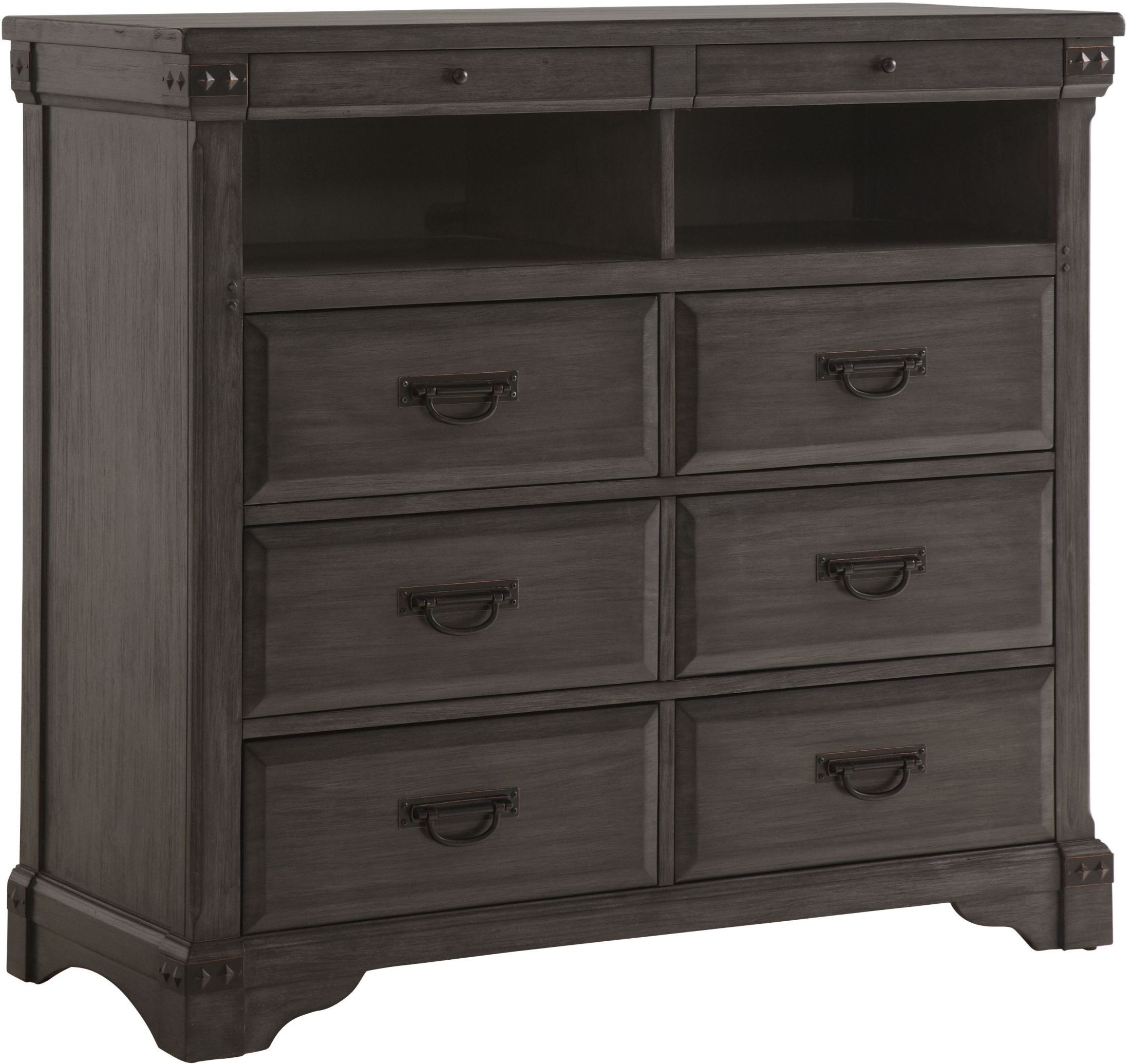 mahogany media chest brushed gray mahogany media chest from avalon furniture 3965