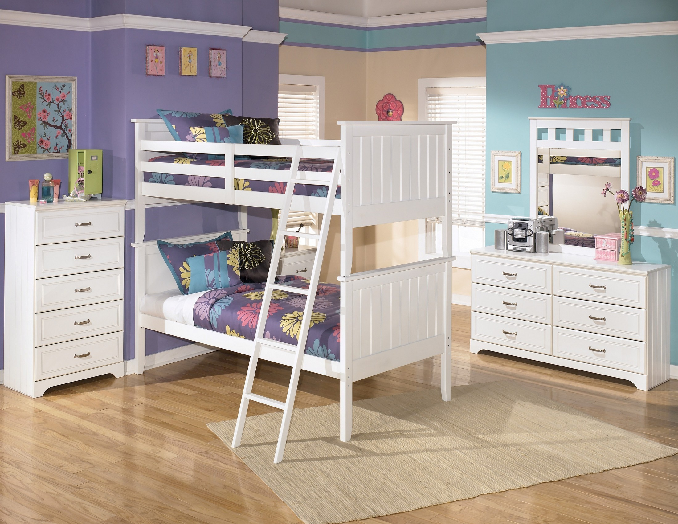 Lulu Bunk Bedroom Set From Ashley (B102-59)