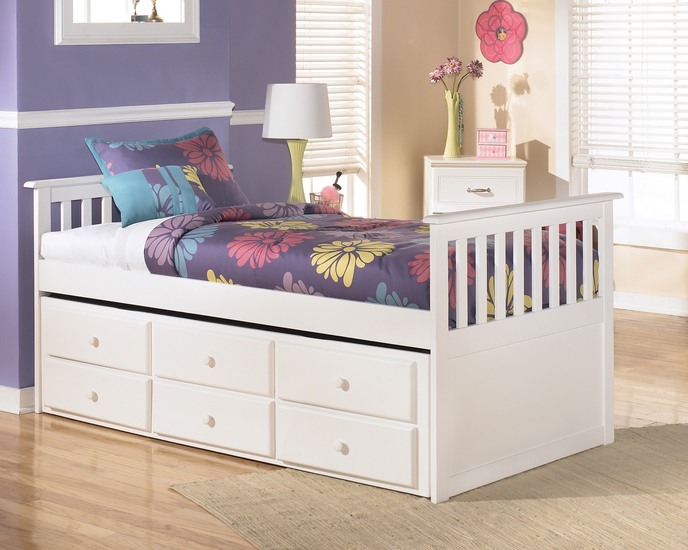 Lulu Twin Storage Bed With Super Trundle From Ashley B102 53 50t 50d 83 Coleman Furniture