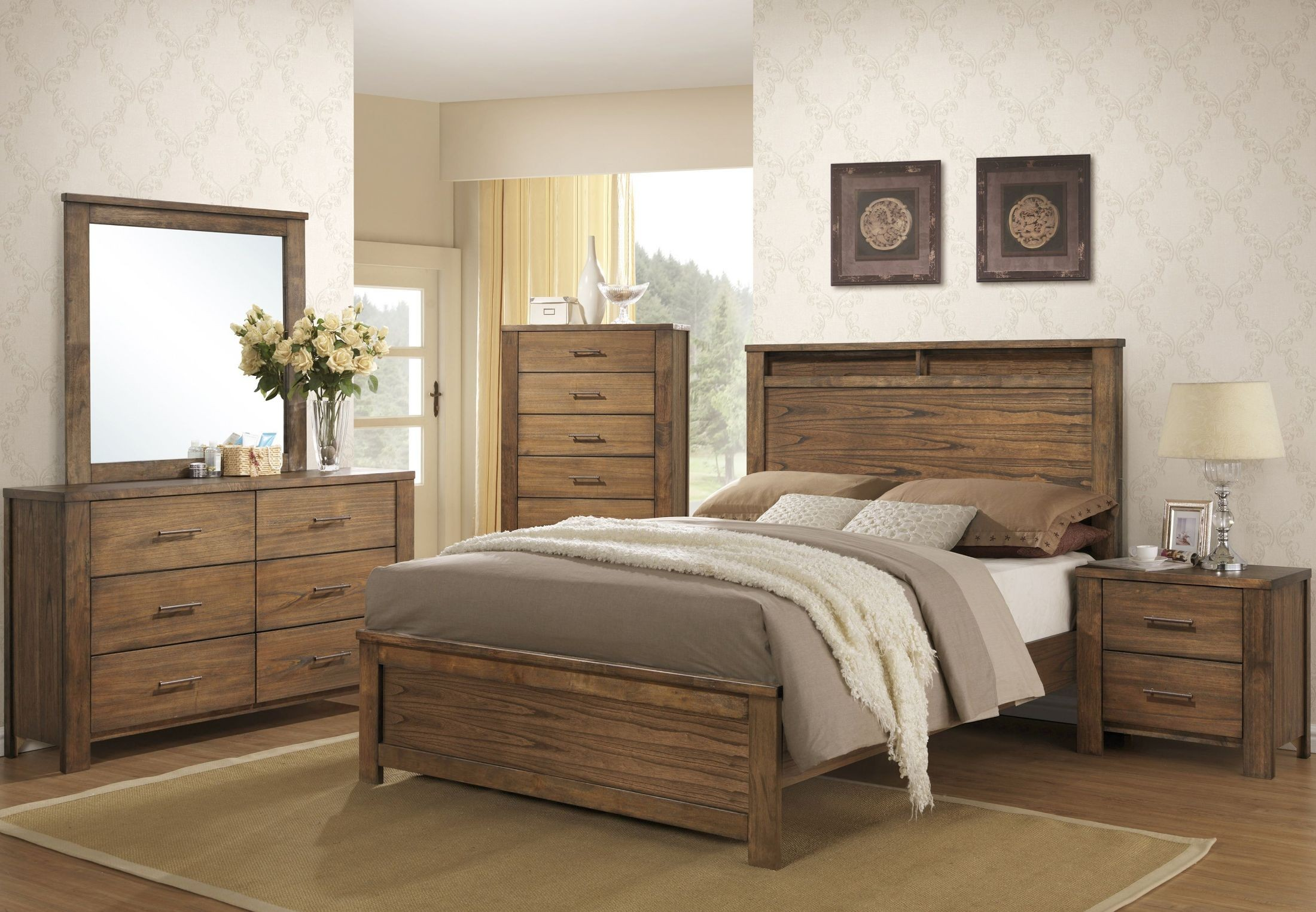 Brayden Distressed Satin Mindi Panel Bedroom Set From Progressive Furniture Coleman Furniture