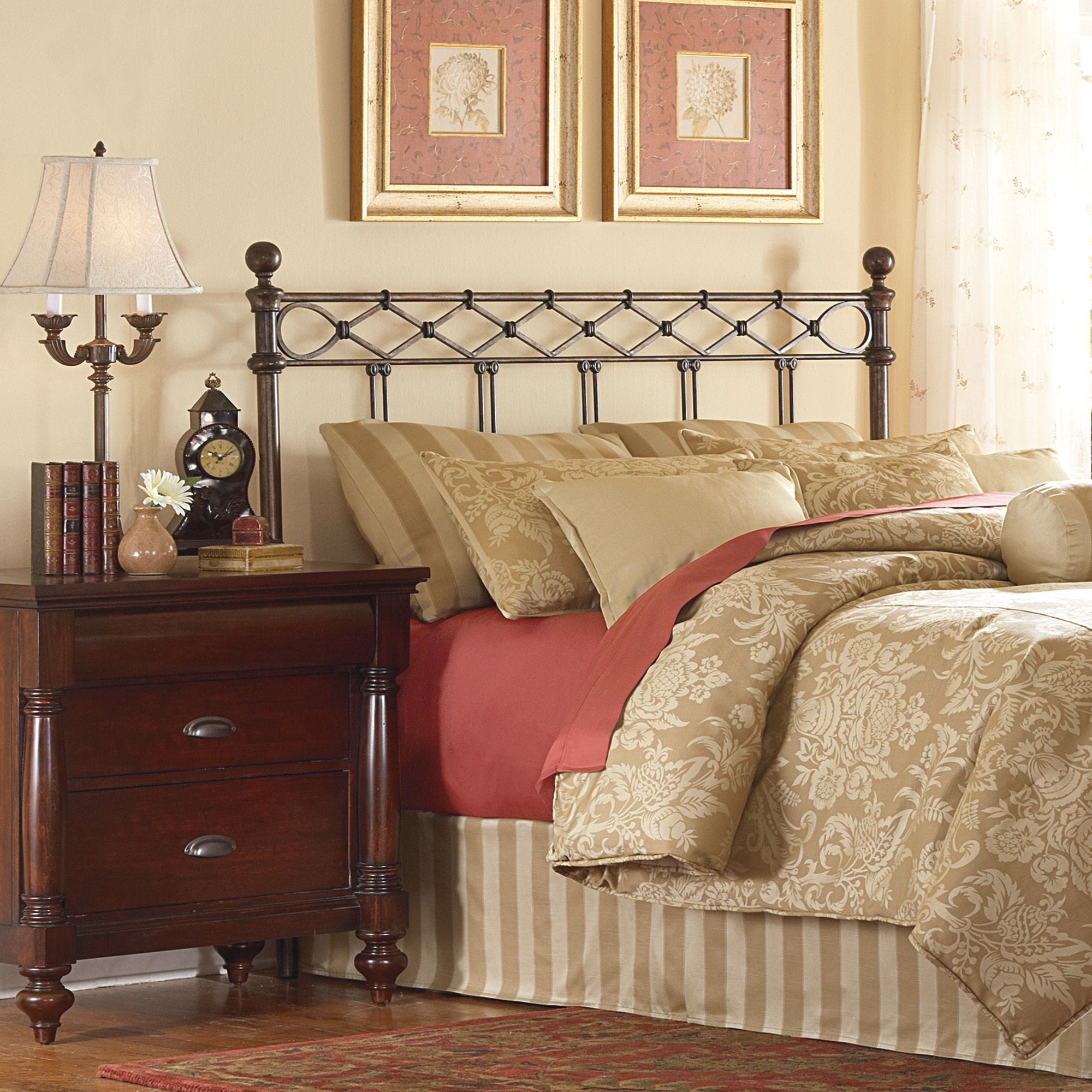 Argyle Copper Chrome Cal. King Headboard, B12287, Fashion