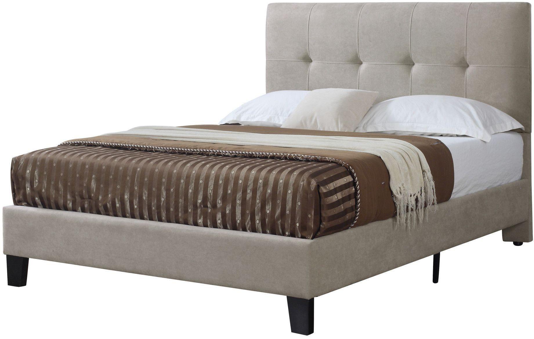 Cal King Upholstered Platform Bed