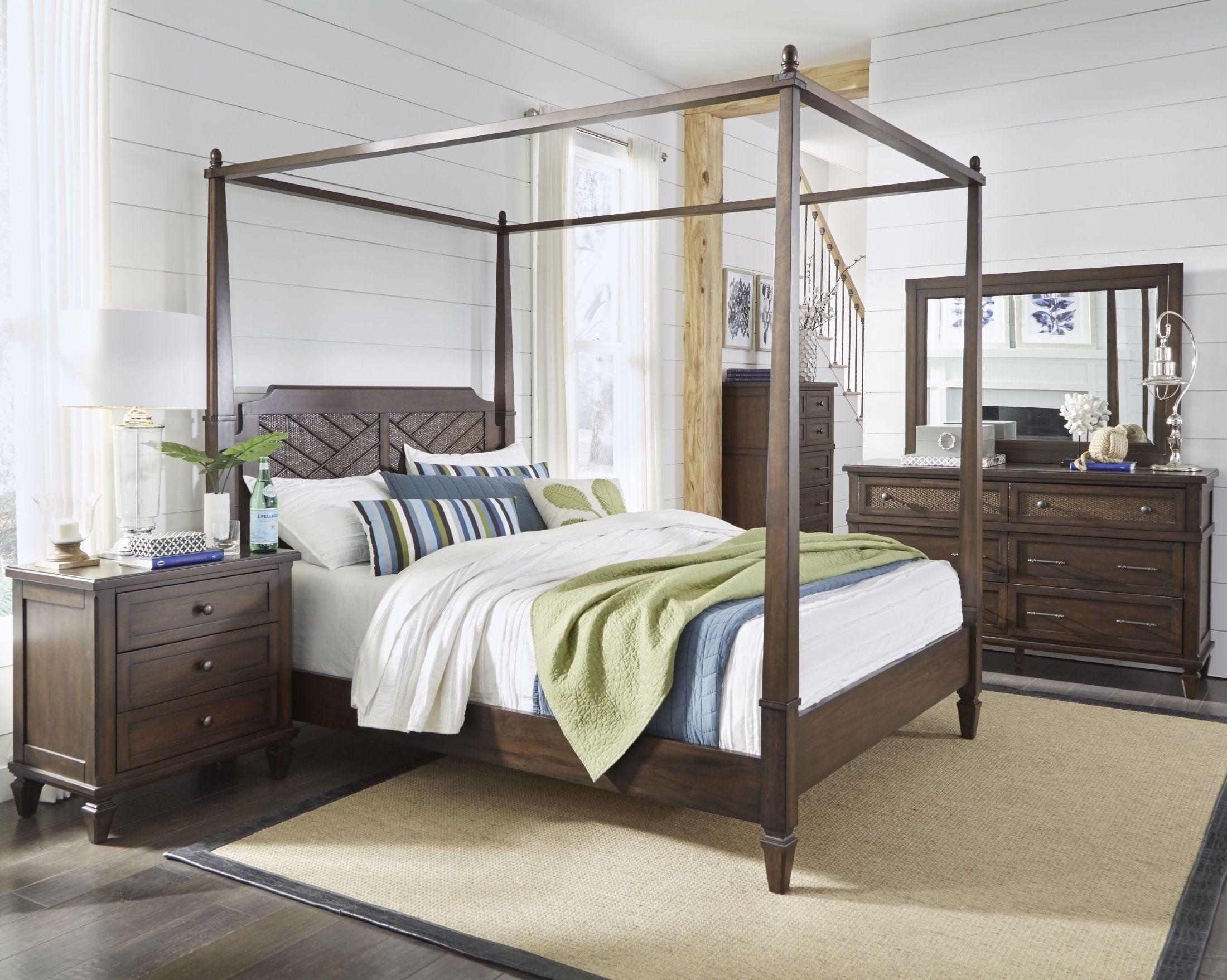 Coronado Sable Poster Canopy Bedroom Set