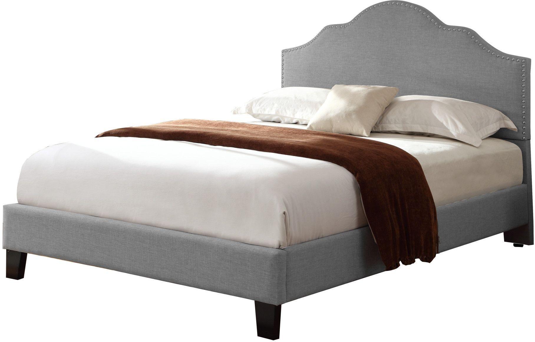 Madison Home Upholstered Platform Queen Bed