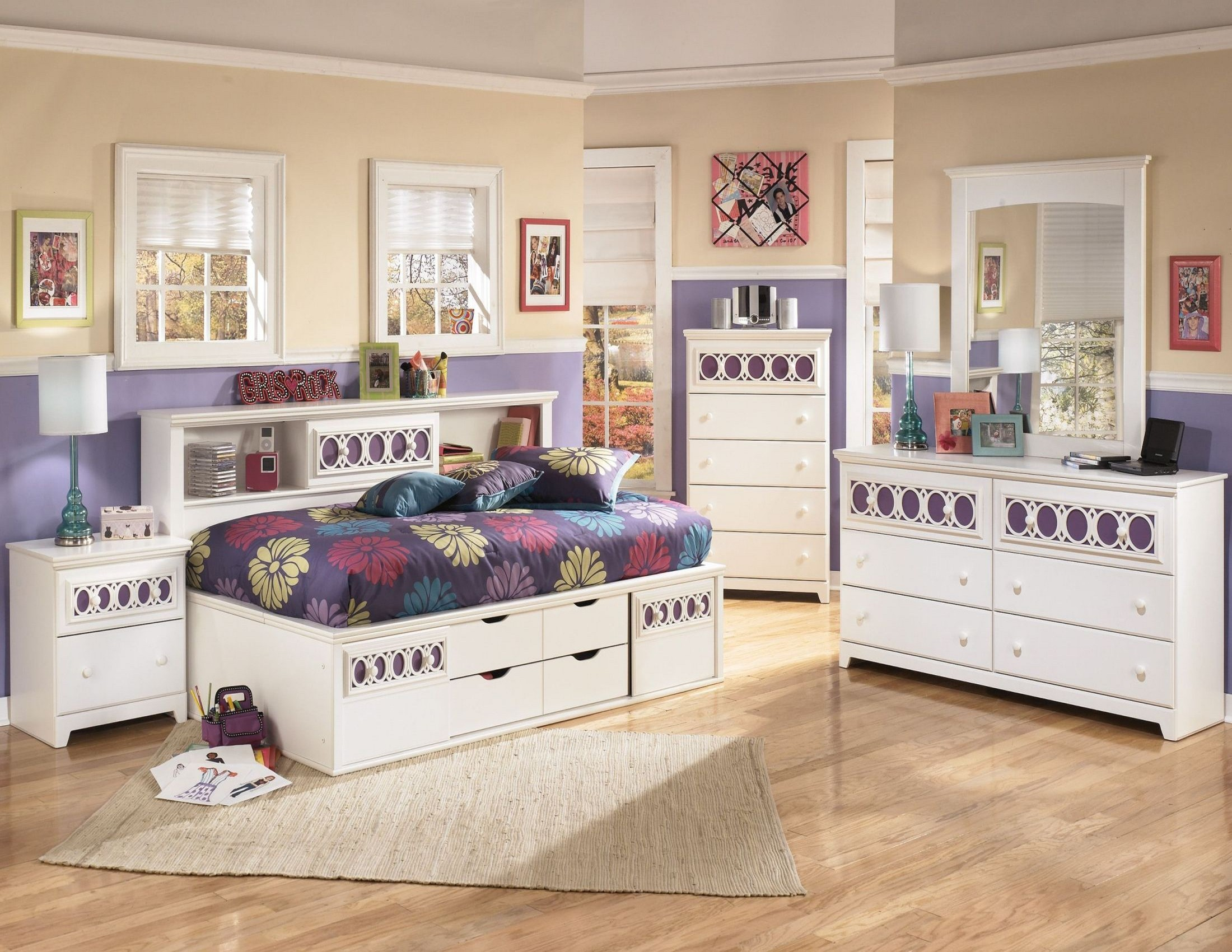 Zayley Bookcase Bedroom Set from Ashley (B131-85-51-82) | Coleman ...