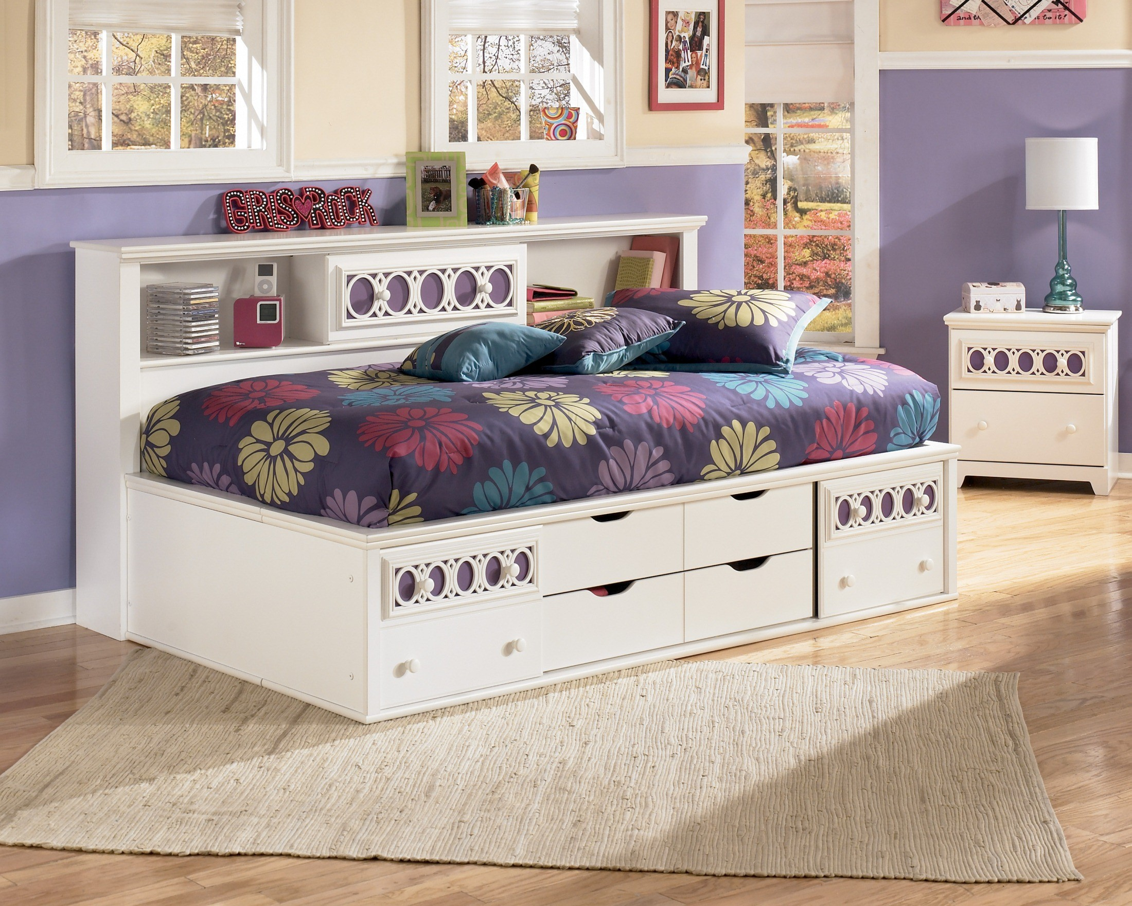 Zayley Twin Bookcase Storage Bed From Ashley B131 85 51