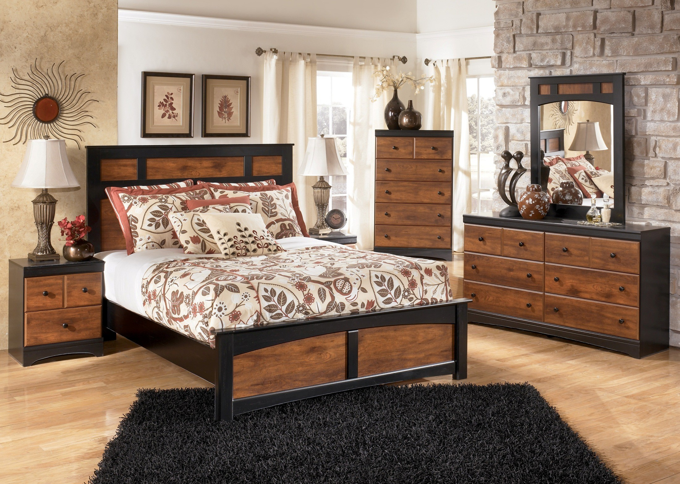 aimwell panel bedroom set from ashley (b136-54-57-96) | coleman