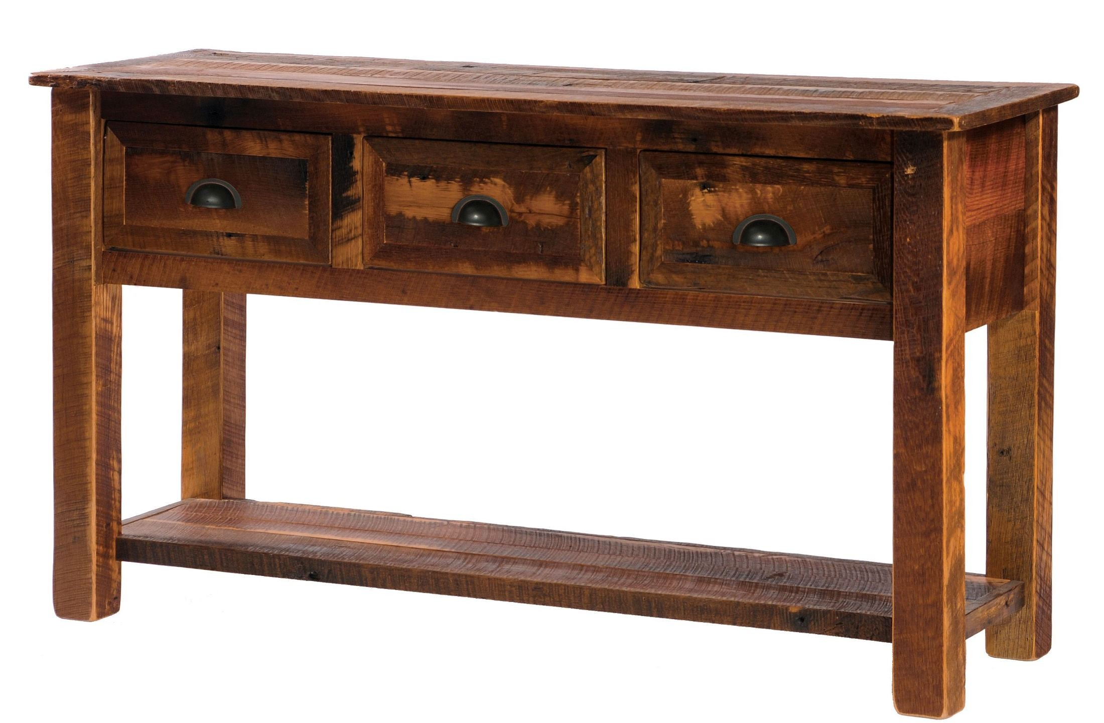 5 Console Table ~ Barnwood drawers console table with legs