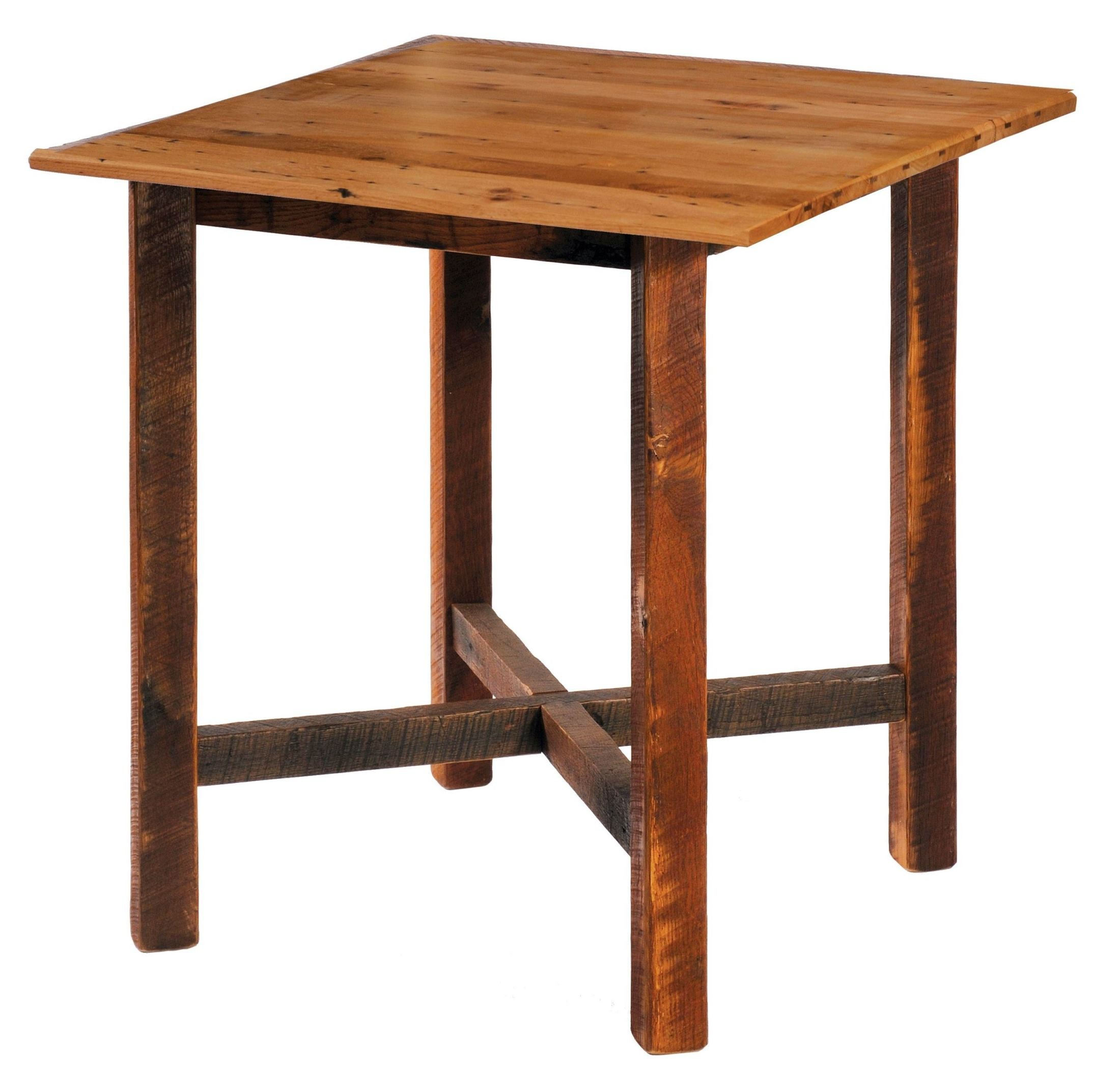 Barnwood 40 antique oak top square pub table from for 1 oak nyc table prices