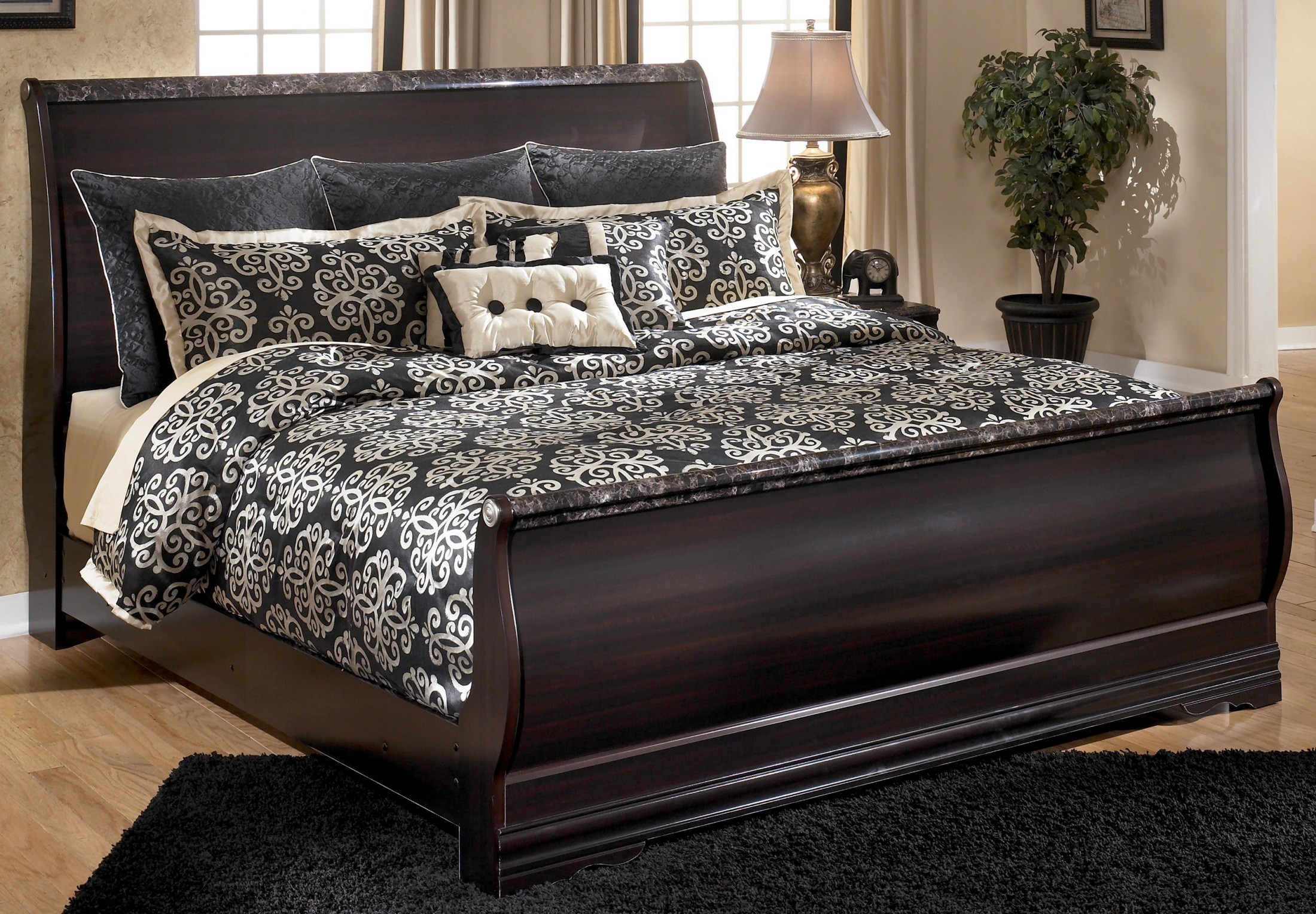 king sleigh bedroom set esmarelda king sleigh bed from b179 78 76 97 15762