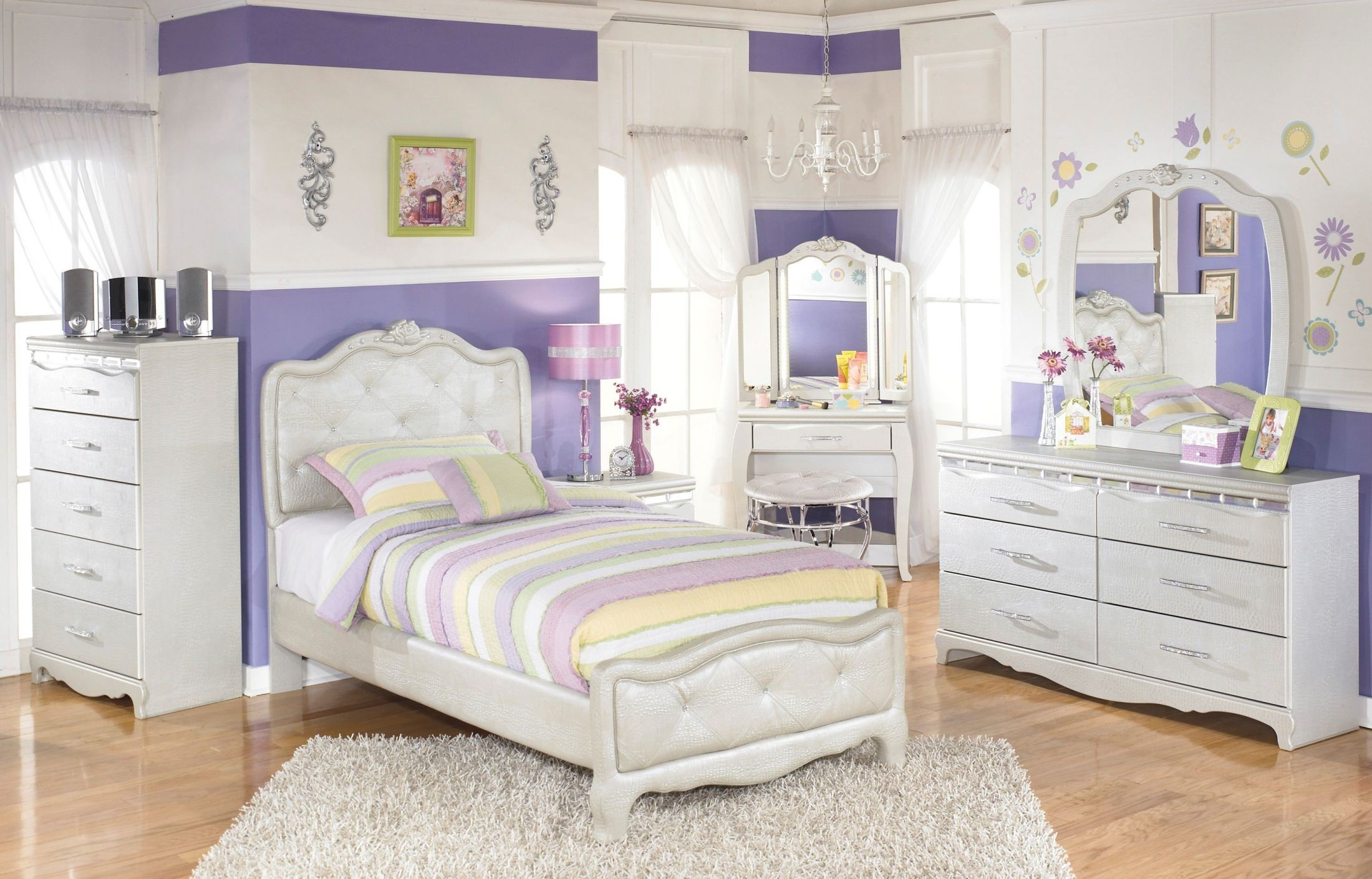 zarollina youth upholstered bedroom set from ashley b182 13894 | b182 21 26 46 63 62 90 92 22 37 01