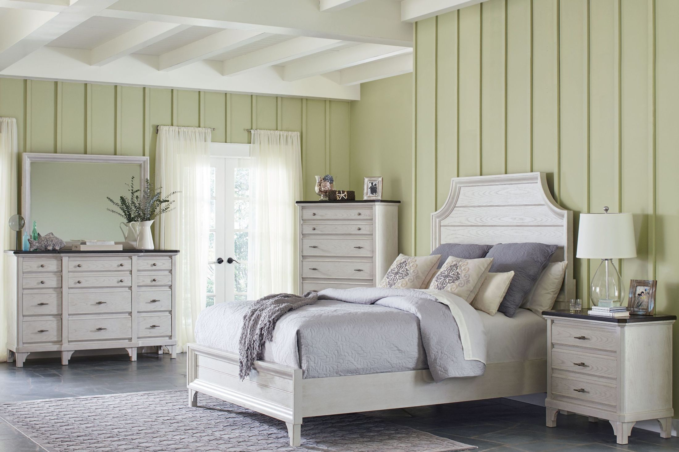 Mystic Cay White Panel Bedroom Set From Avalon Furniture Coleman Furniture